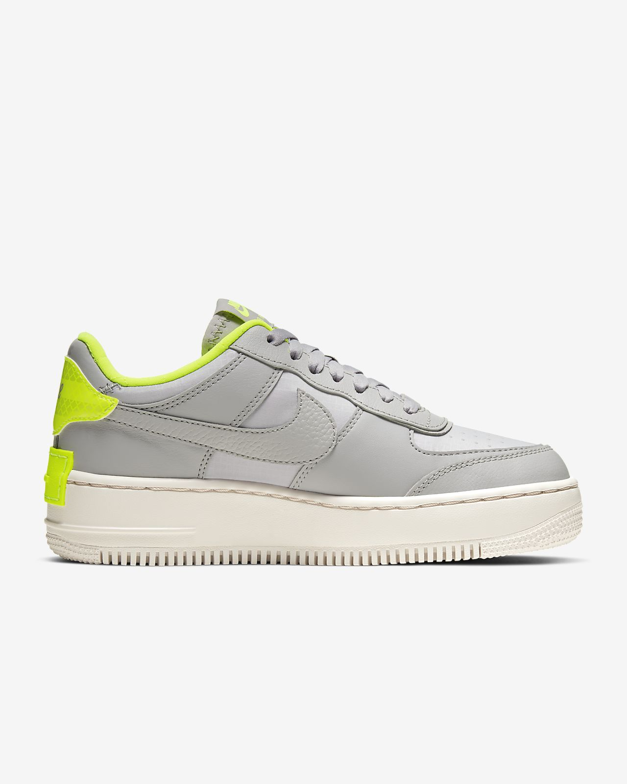 Nike Air Force 1 Shadow SE Atmosphere Grey Volt CQ3317 002