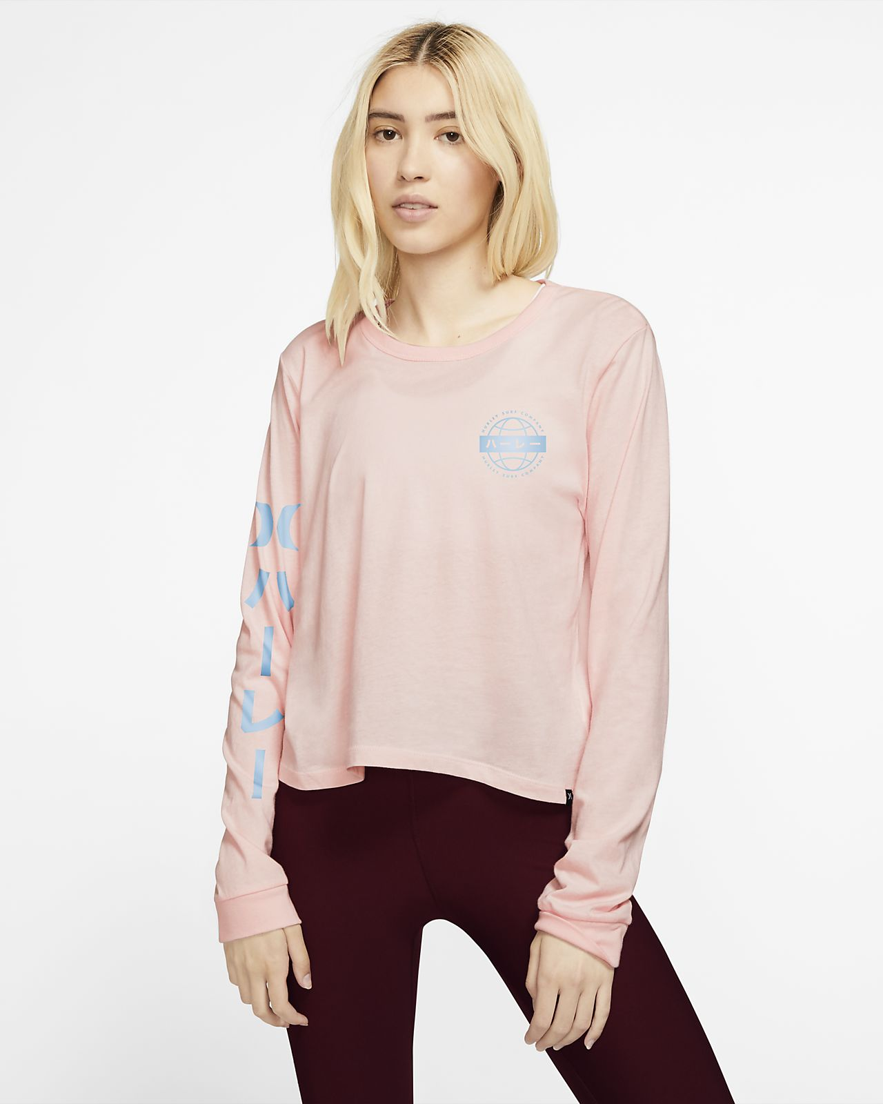 Hurley Global Perfect T-shirt met lange mouwen voor dames