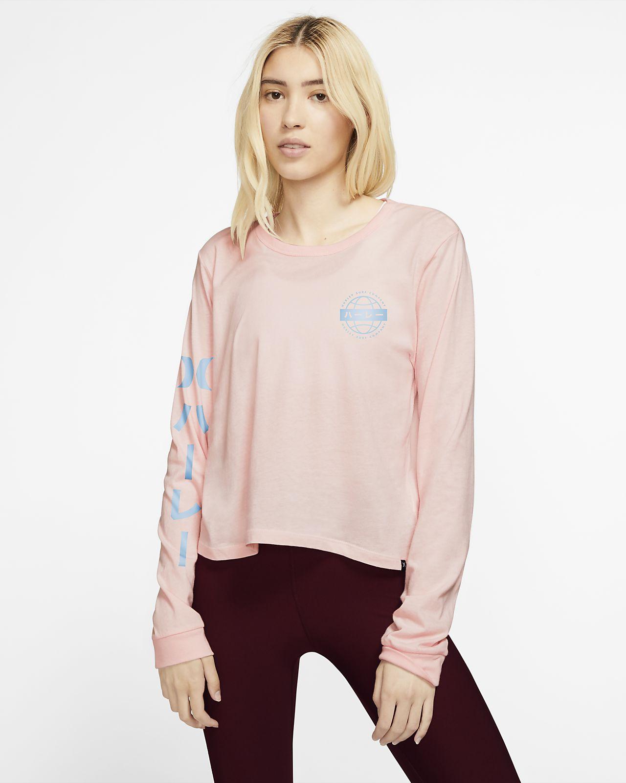 T-shirt a manica lunga Hurley Global Perfect - Donna