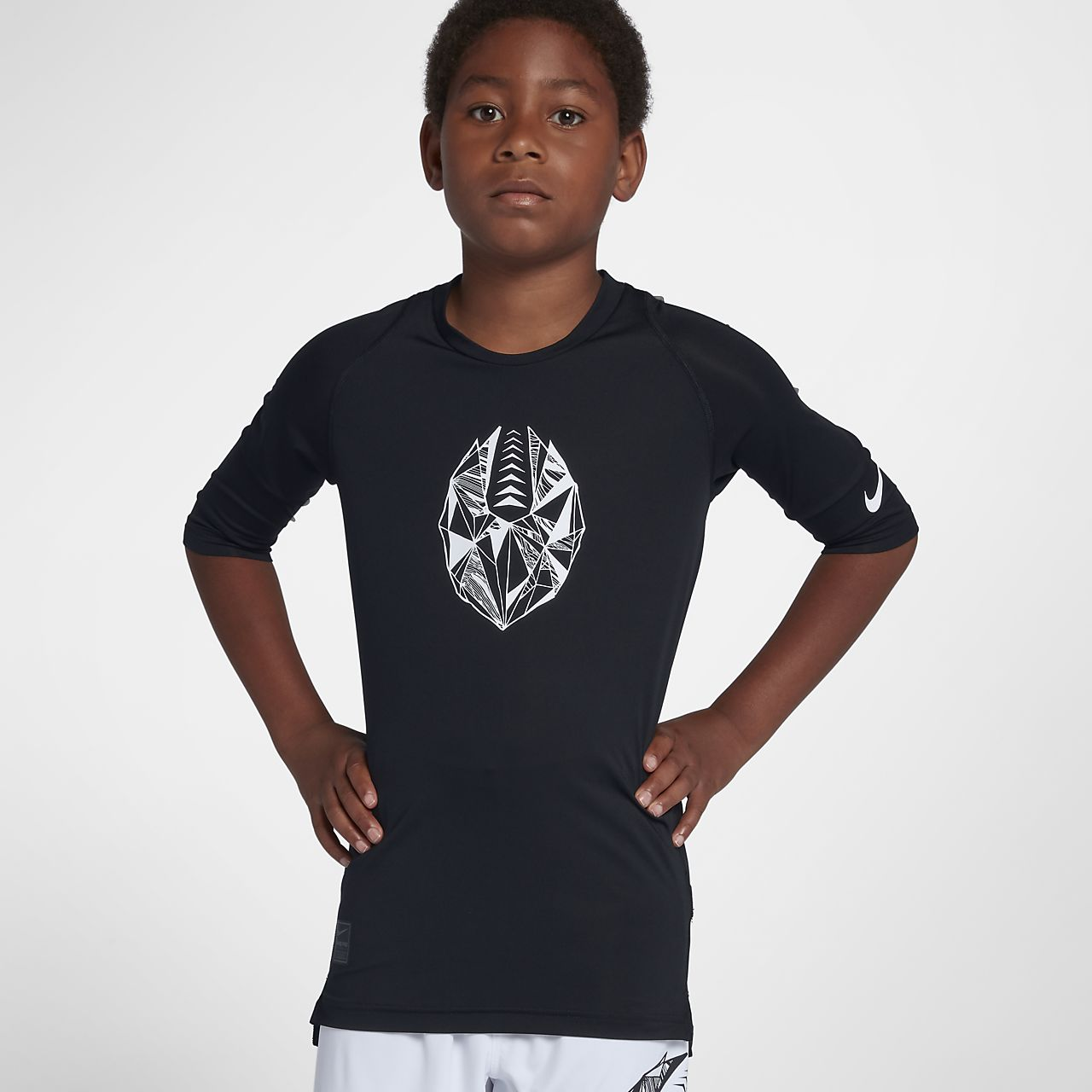 Nike Pro Big Kids' (Boys') Fitted Half Sleeve Soccer Top