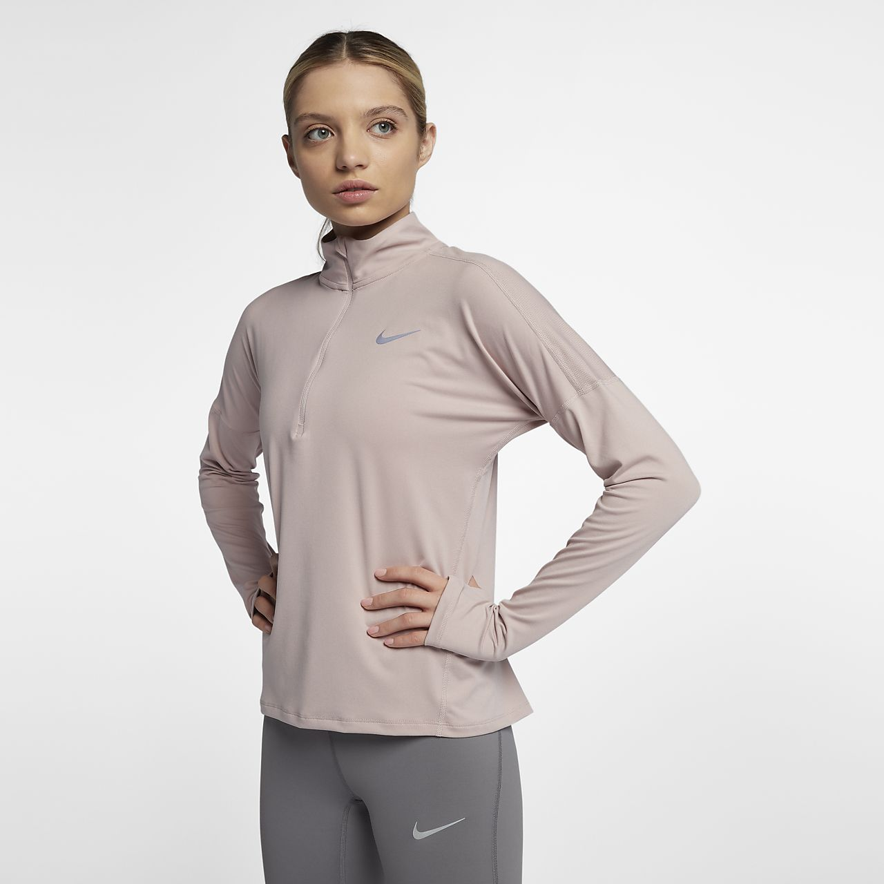 d6d65454 Nike Womens Pro Hyperwarm Half Zip Long Sleeve Compression Shirt ...