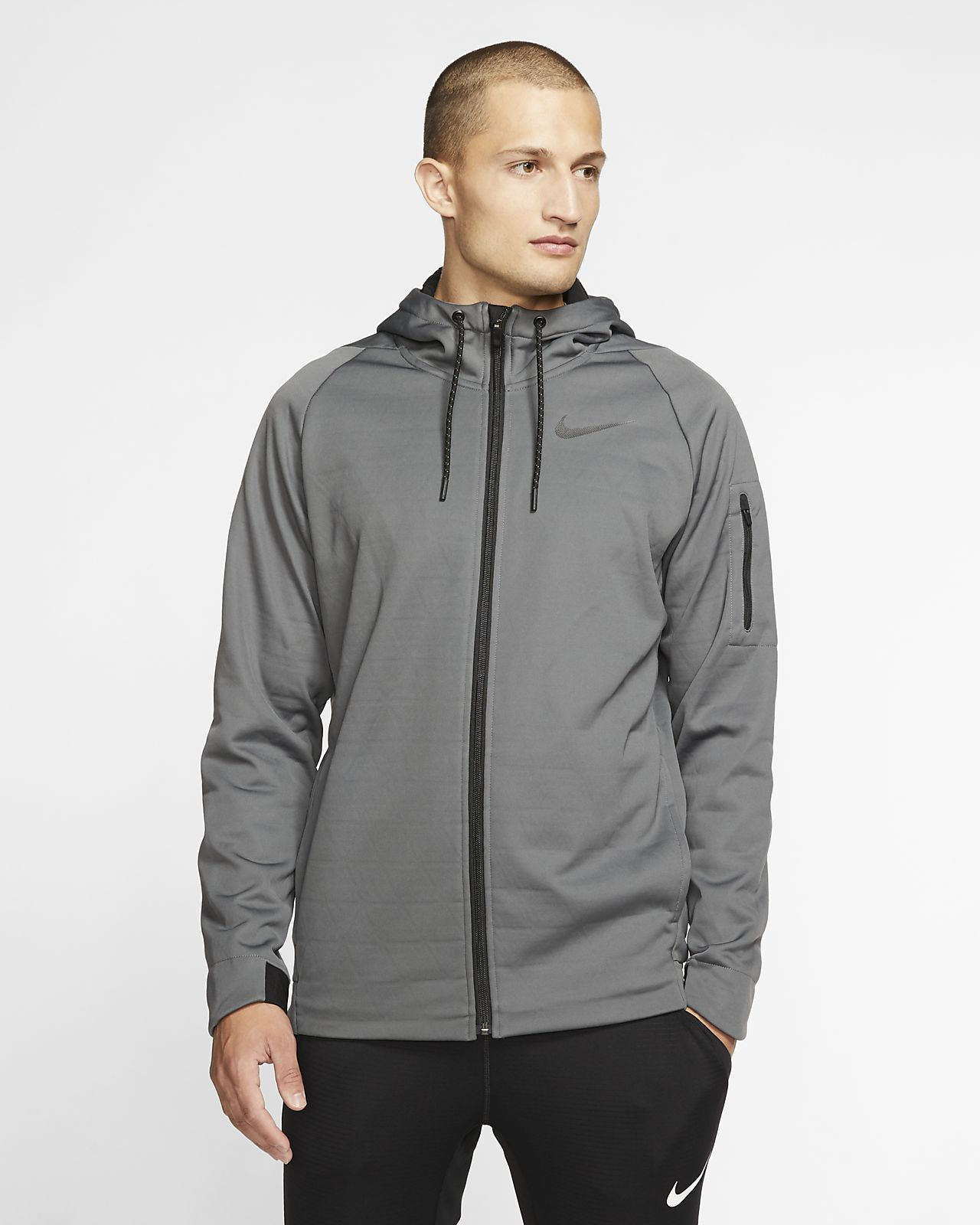 Giacca da training con zip a tutta lunghezza e cappuccio Nike Therma Uomo