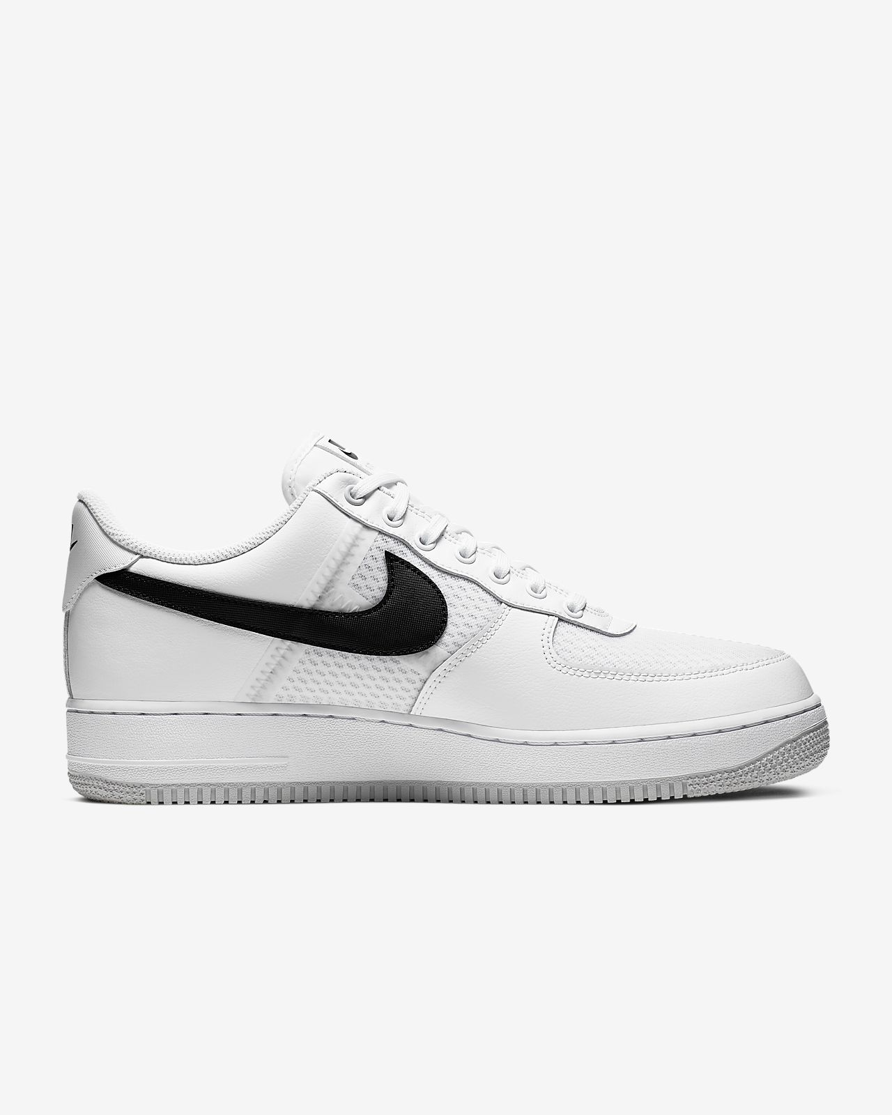 Mens Womens Nike Air Force 1 Low White Black 820266 101 Running Shoes 820266 101
