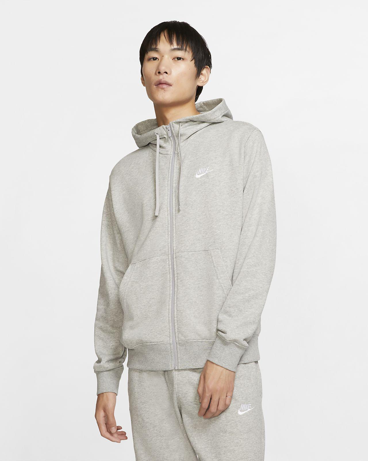 Felpa con cappuccio e zip a tutta lunghezza Nike Sportswear Club Uomo