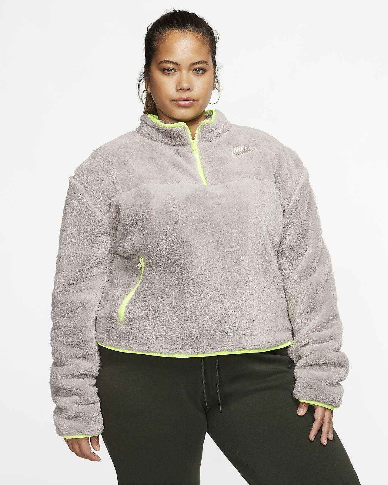 Nike Sportswear Women's Sherpa Fleece 1/4-Zip Top (Plus Size)