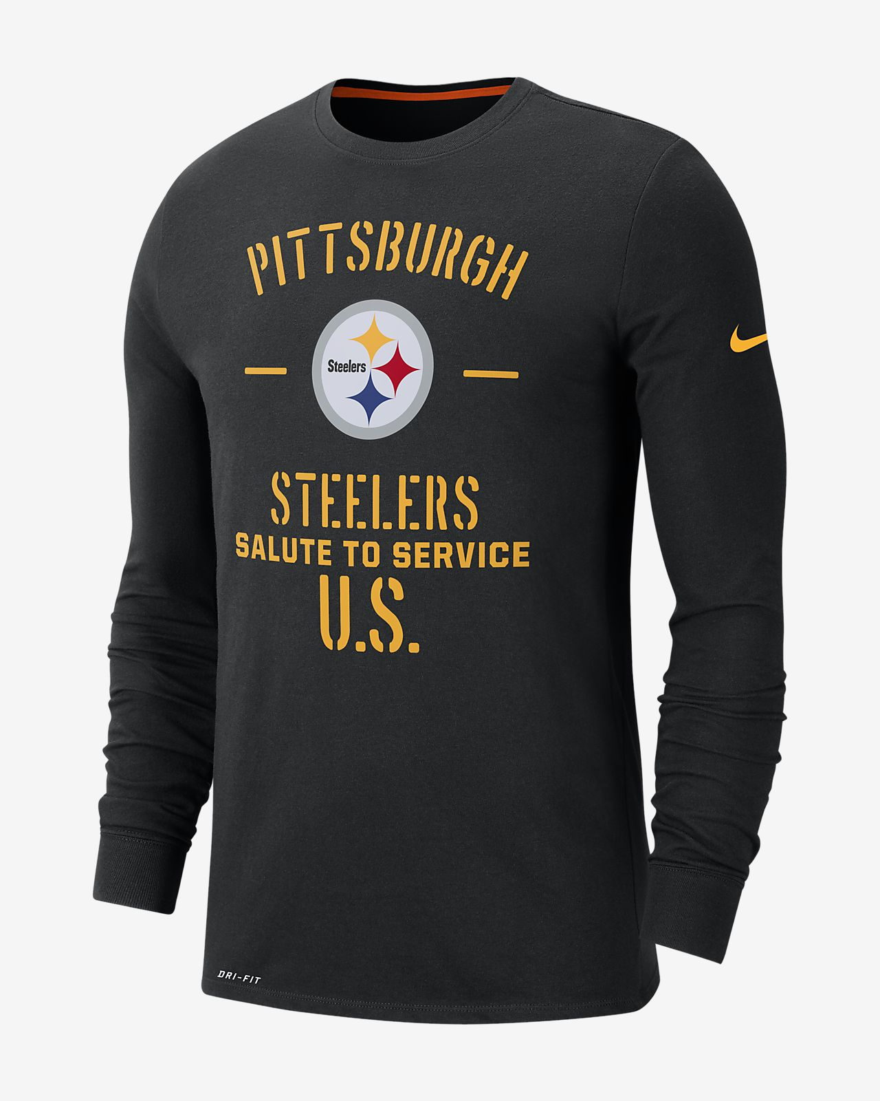 Nike Dri-FIT Salute To Service (NFL Steelers) Men's Long-Sleeve T-Shirt