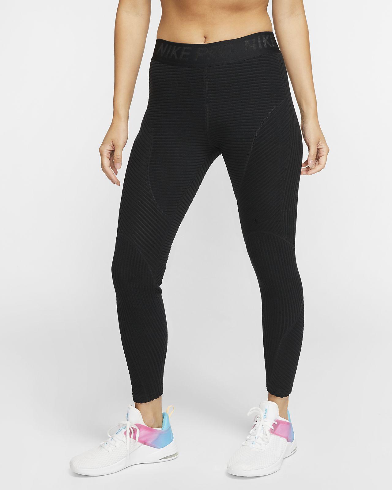 Nike Pro HyperWarm Velours-Tights für Damen