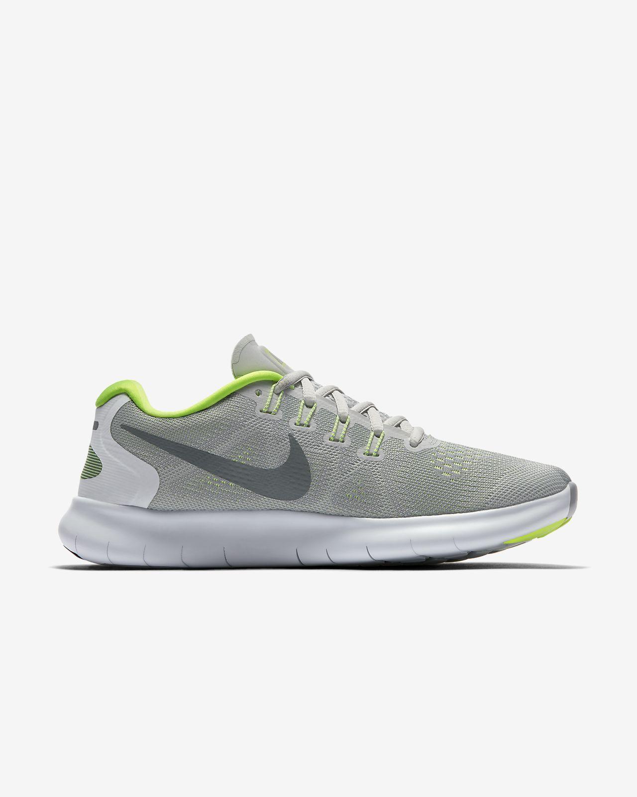 Nike WMNS Free RN 2017, Chaussures de Running Femme, Gris (Gris Loup/Gris Foncé/Platine Pur), 40.5 EU