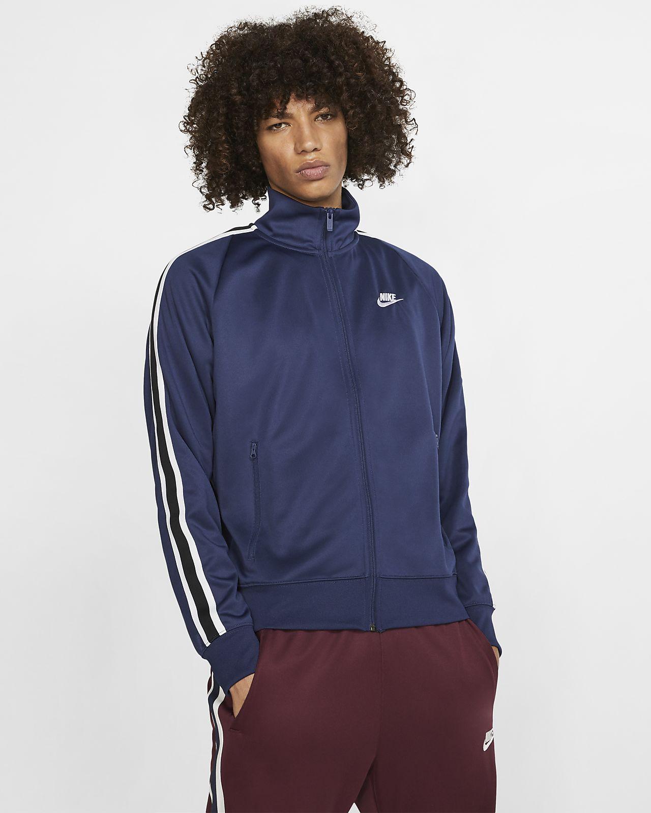 Casaco de aquecimento de malha Nike Sportswear N98 para homem