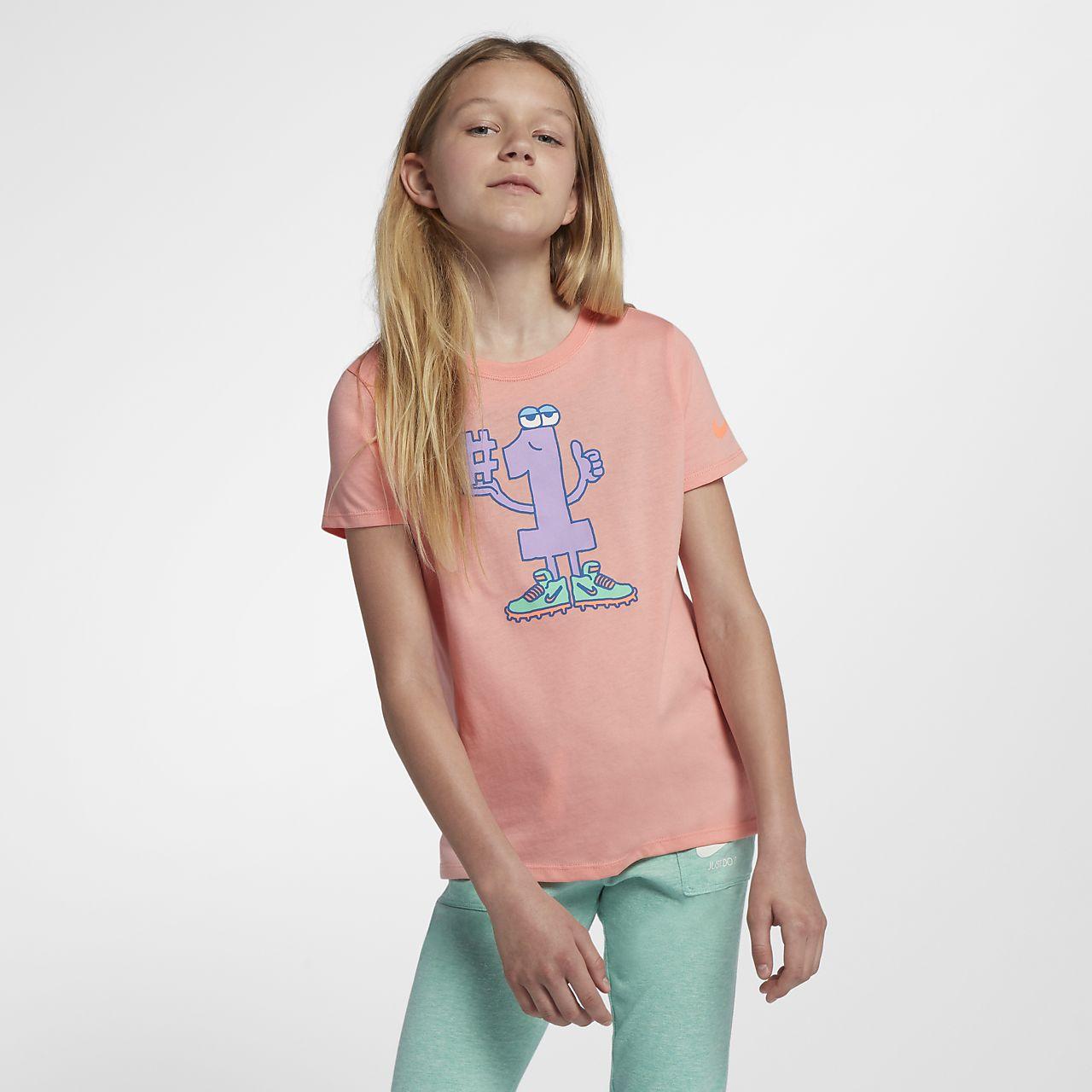 nike t-shirt mädchen pink