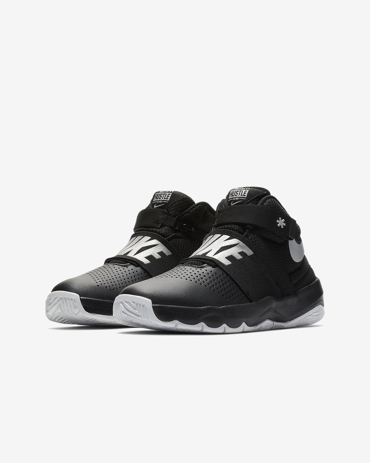 buy popular cd50f af192 ... Nike Team Hustle D 8 FlyEase Big Kids  Basketball Shoe