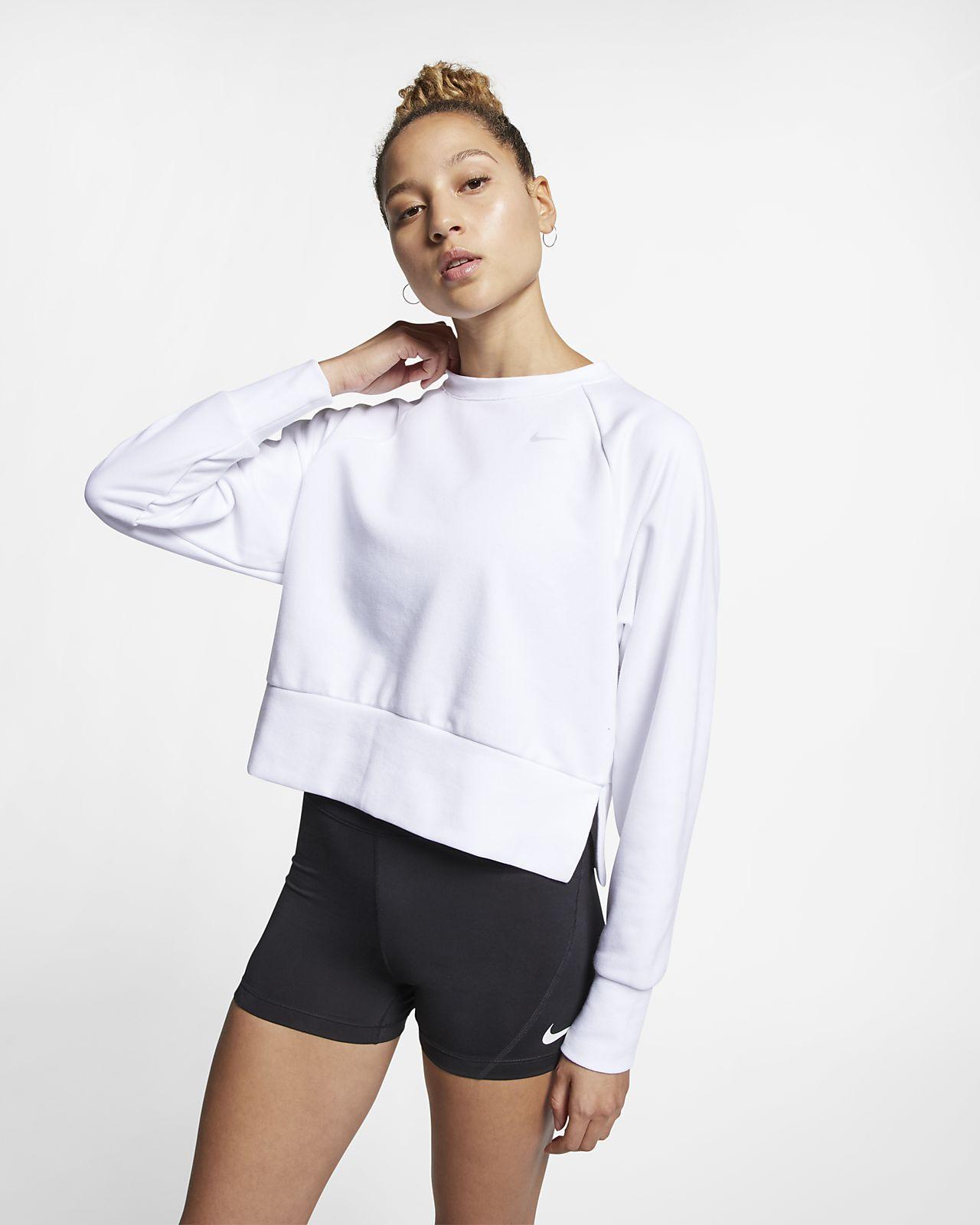 Haut d'entraînement de yoga à manches longues Nike Dri-FIT pour Femme