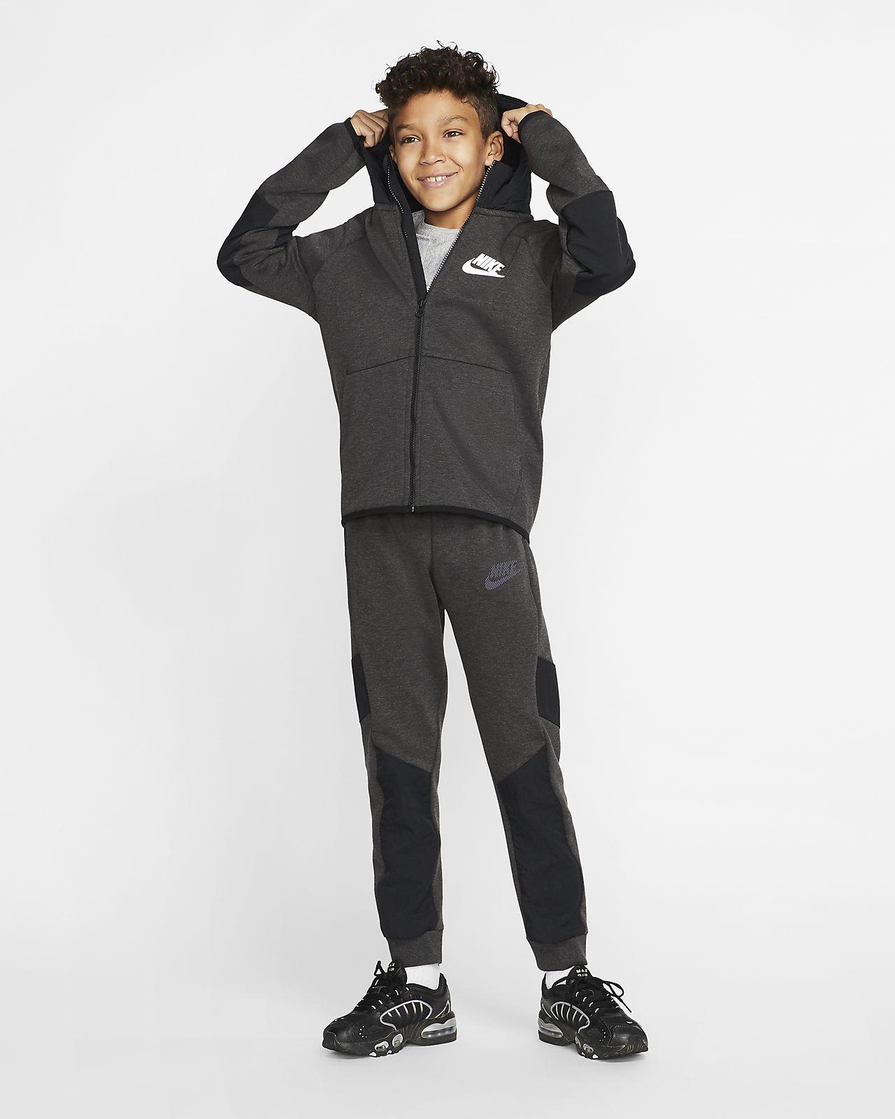 Nike Sportswear Winterized Tech Fleece Big Kids' Full Zip Hoodie