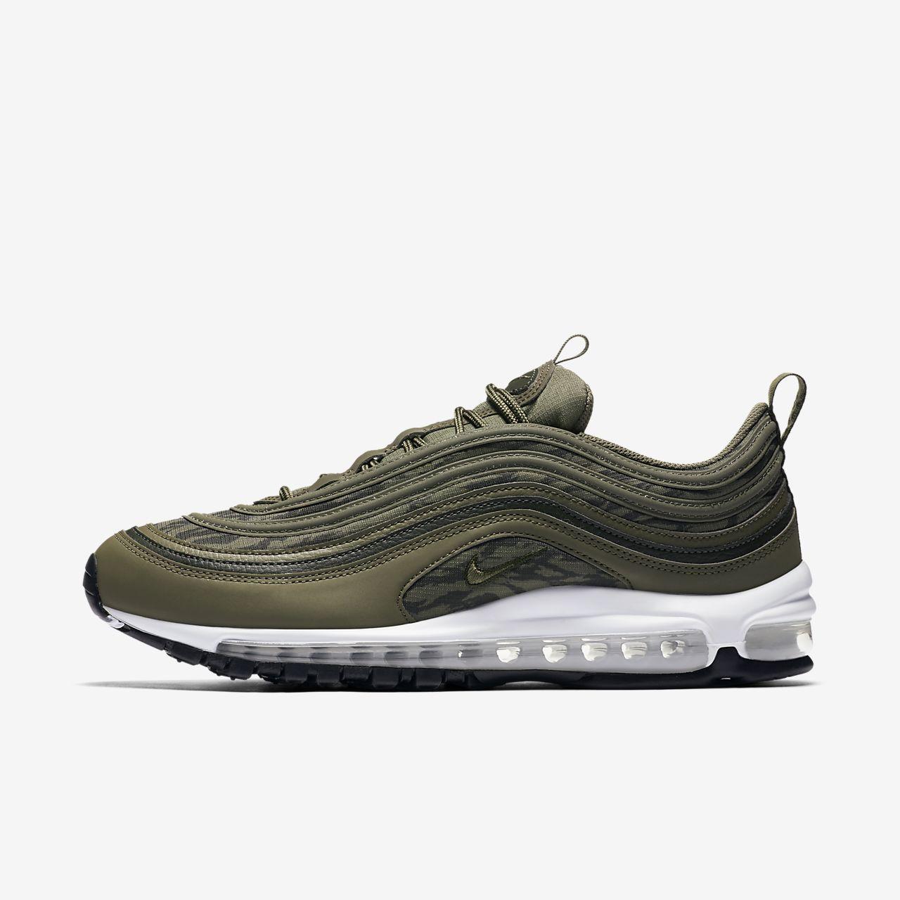 Nike Air Max 97 Medium oliv Sequoia schwarzes Herren Turnschuhe Alle Gr en