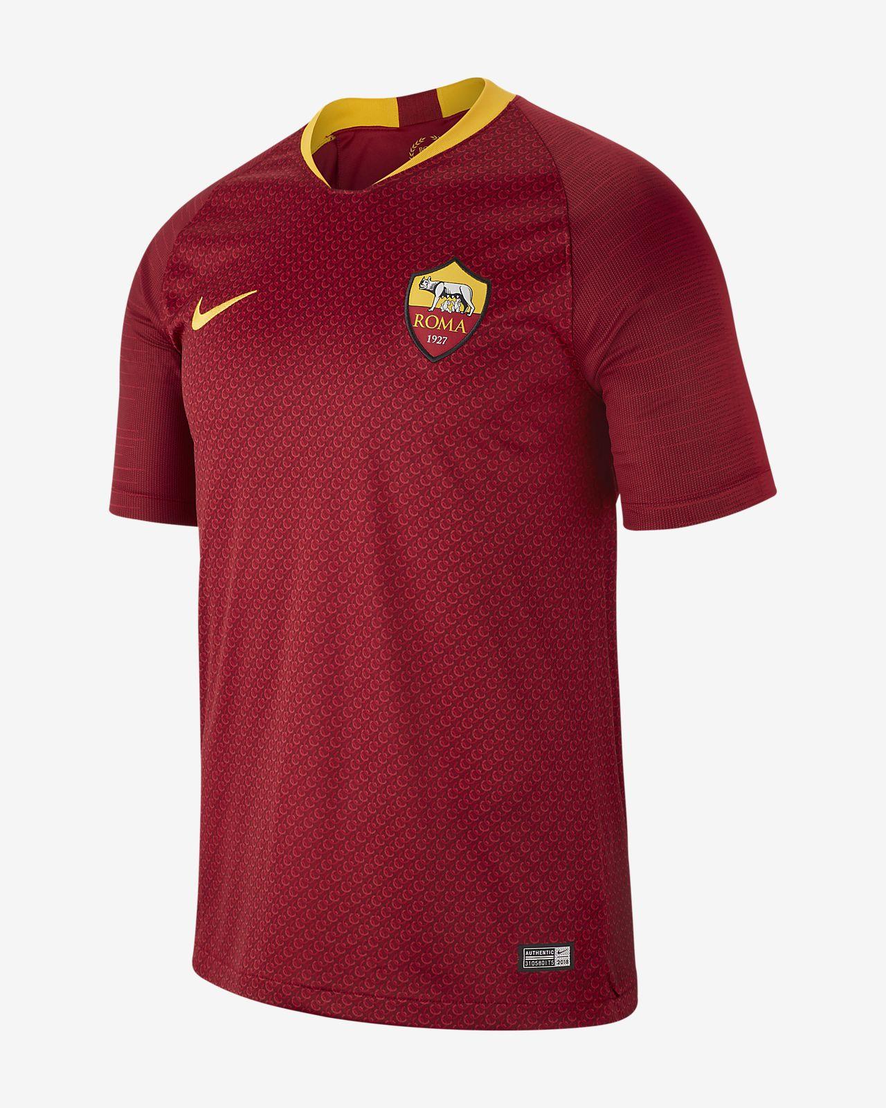 dcffd4d30f7ed Camiseta de fútbol para hombre 2018 19 A.S. Roma Stadium Home. Nike ...