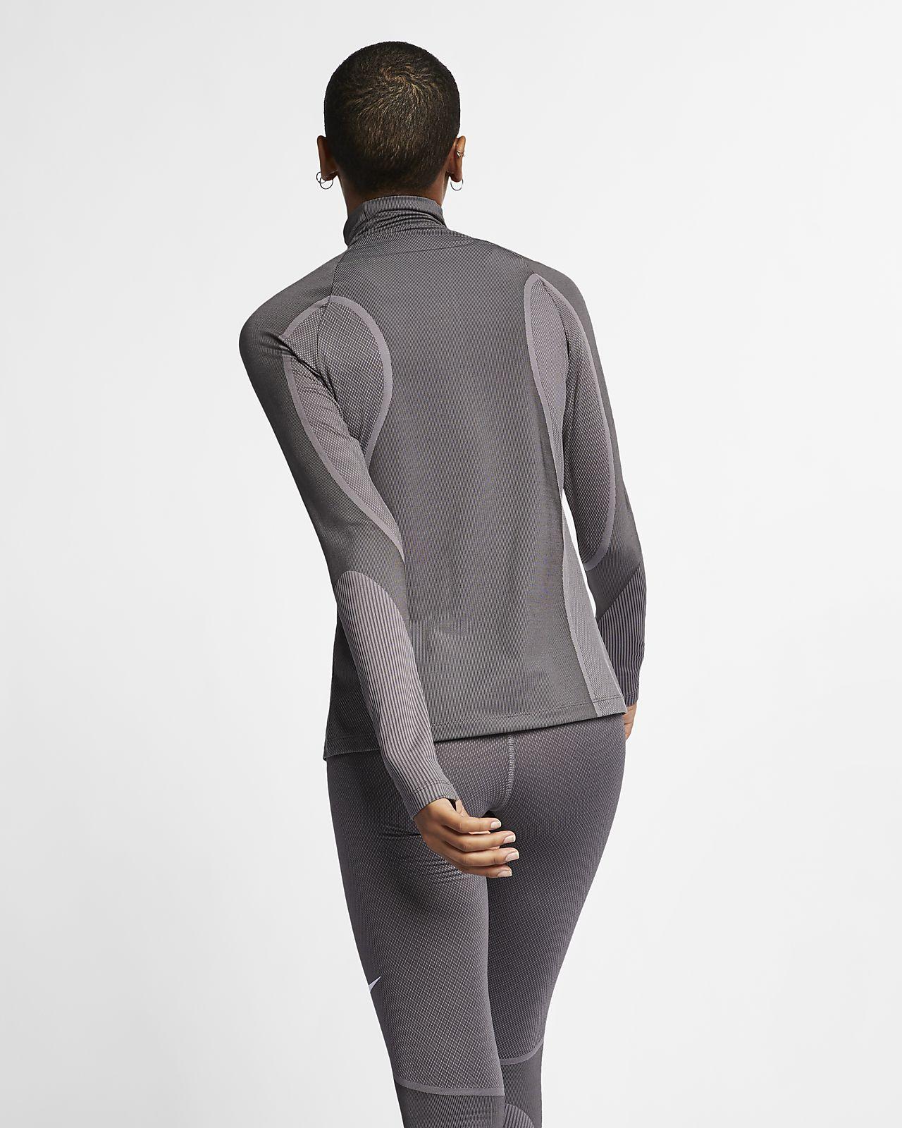 Nike Pro HyperWarm Damenoberteil mit Halbreißverschluss