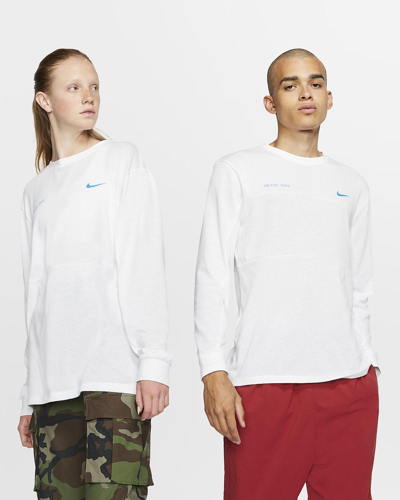 Nike SB Langarm-Skateboard-Oberteil aus Mesh