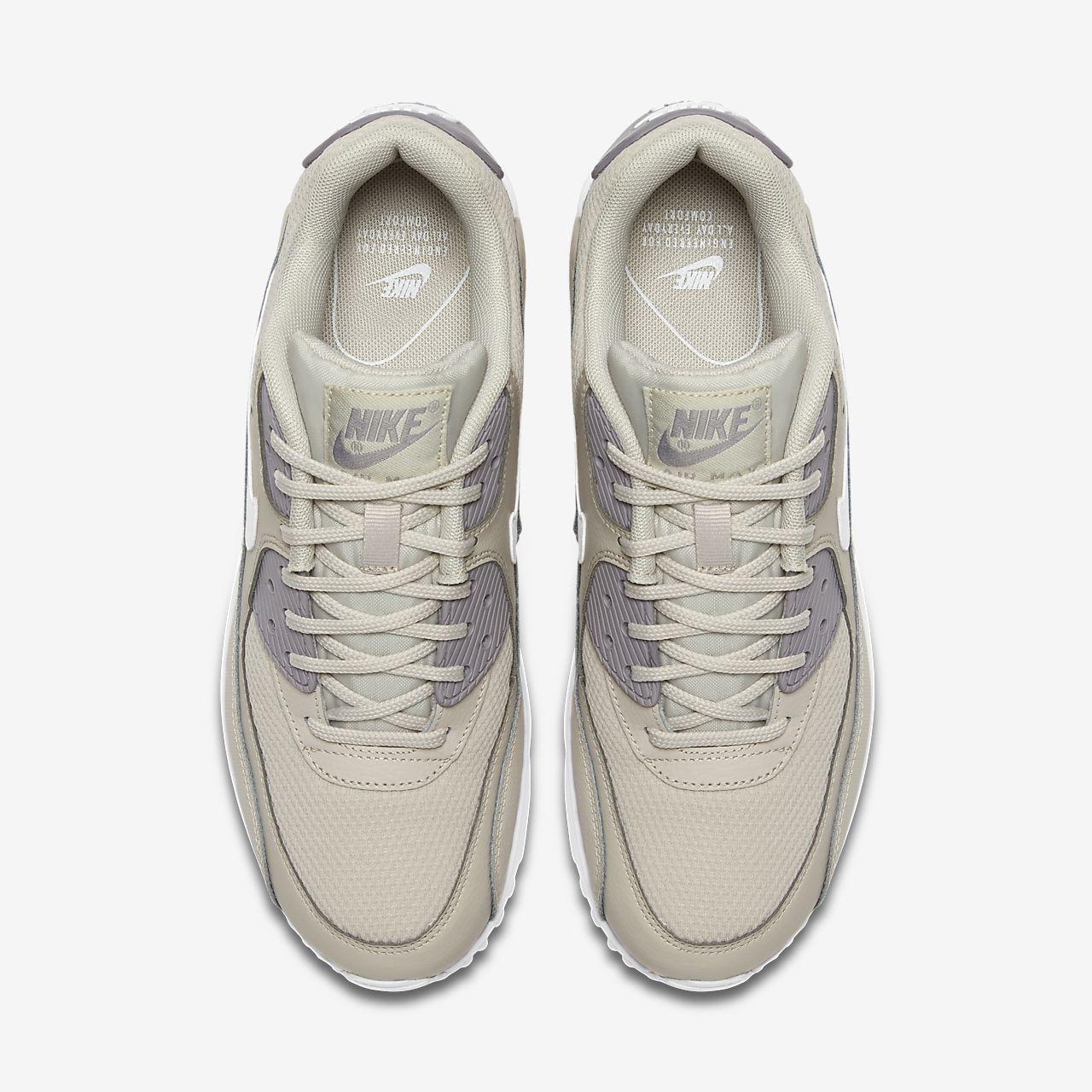 Nike Air Max 90 Essentielle Alle Hvide Mænd Kvinder