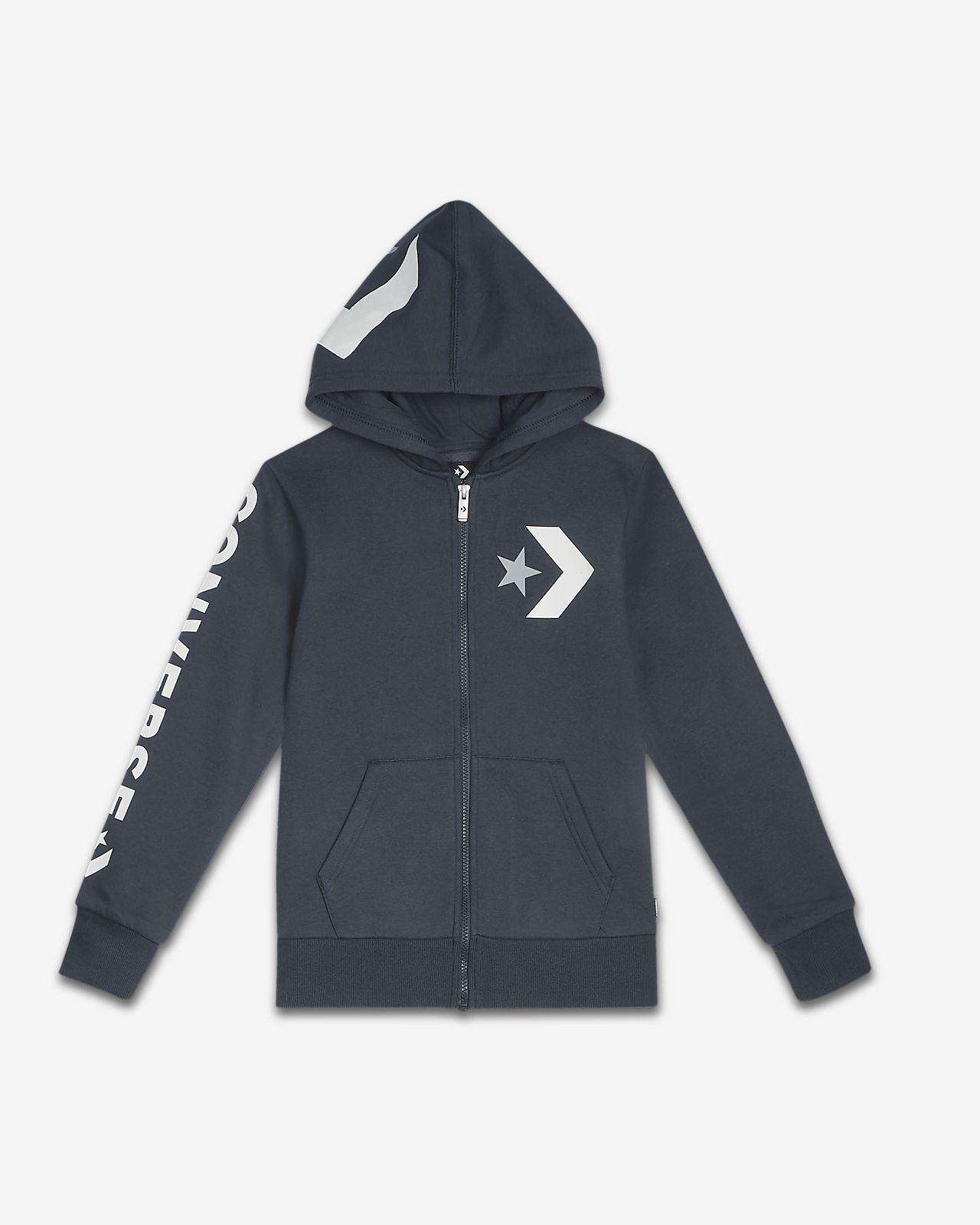 Converse Star Chevron Big Kids' (Boys') Fleece Full-Zip Hoodie