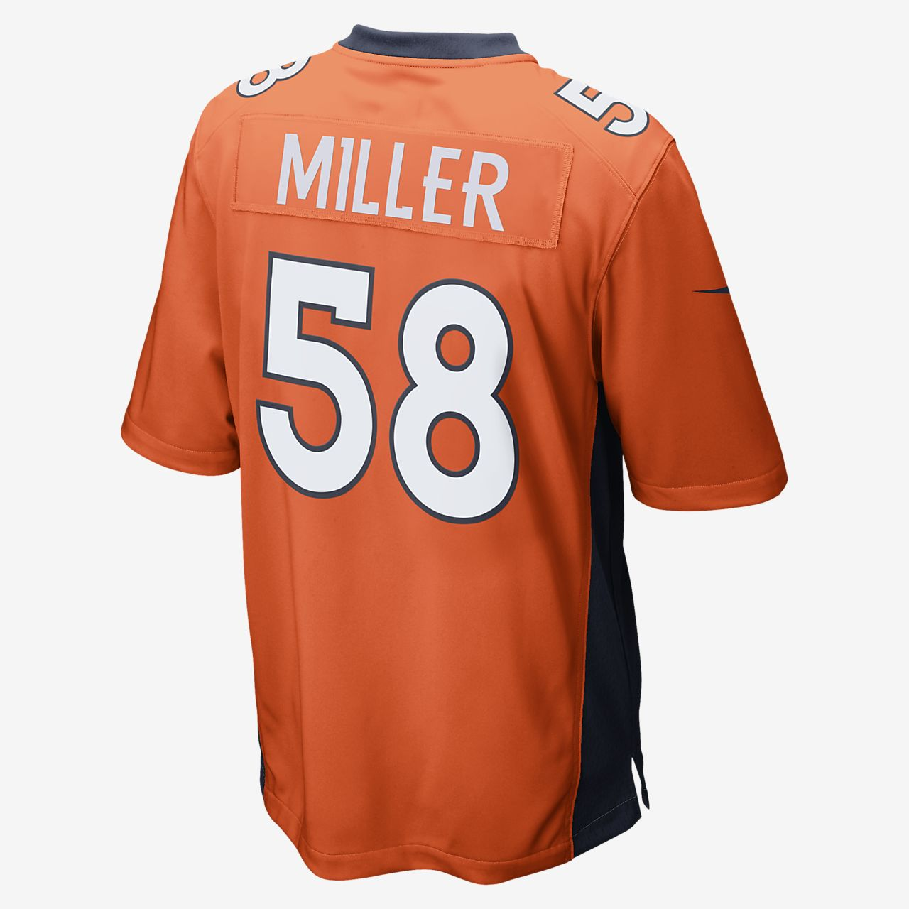b8eeb5e46 NFL Denver Broncos (Von Miller) Men's American Football Home Game ...