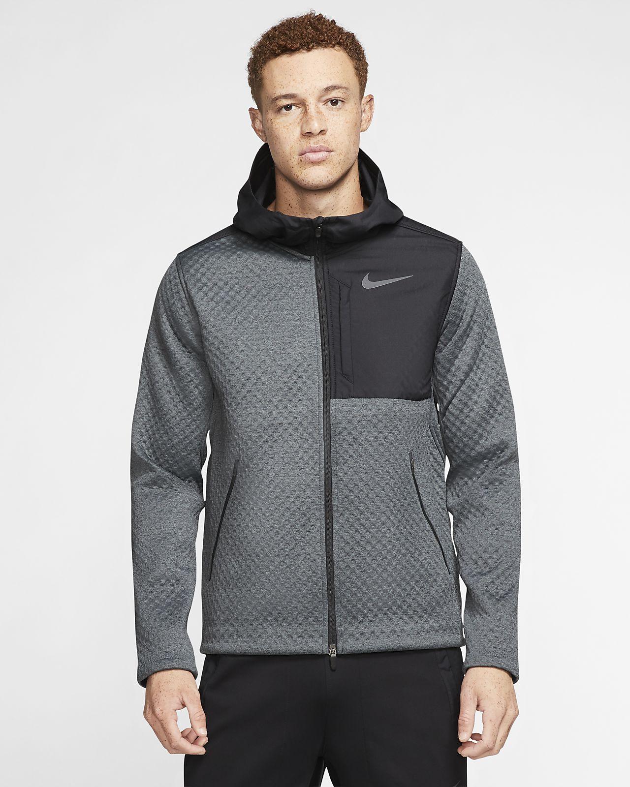 Nike Therma treningsjakke med hette og hel glidelås til herre