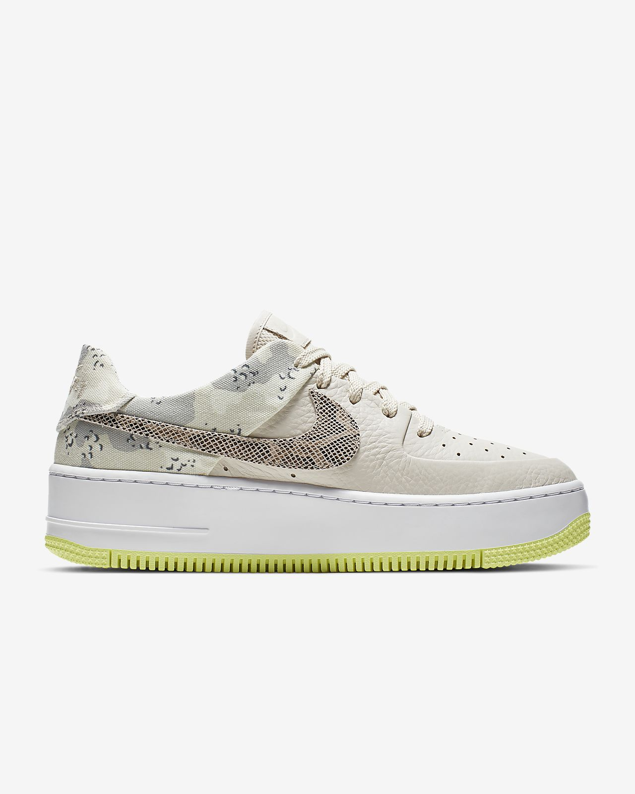 prix compétitif 6a8f6 bba1e Nike Air Force 1 Sage Low Premium Camo Women's Shoe