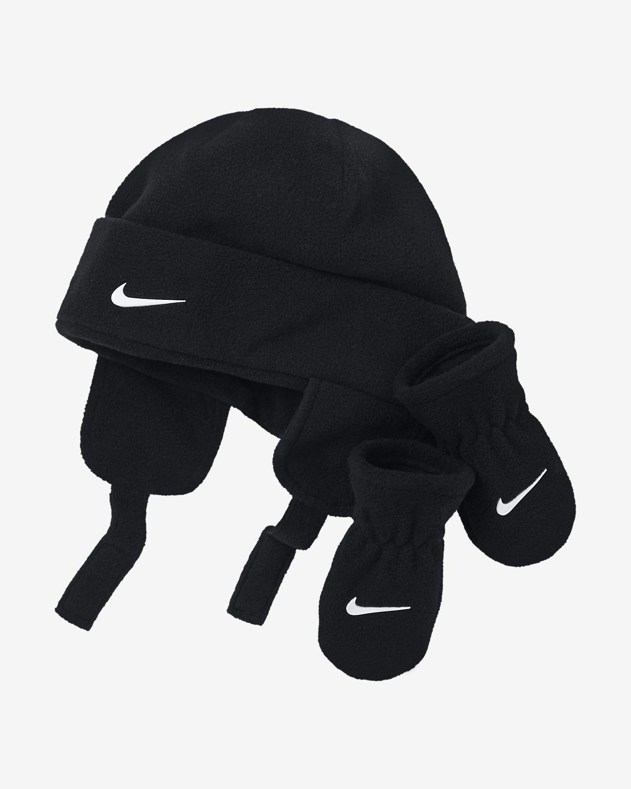 Set Nike med mössa och vantar för baby
