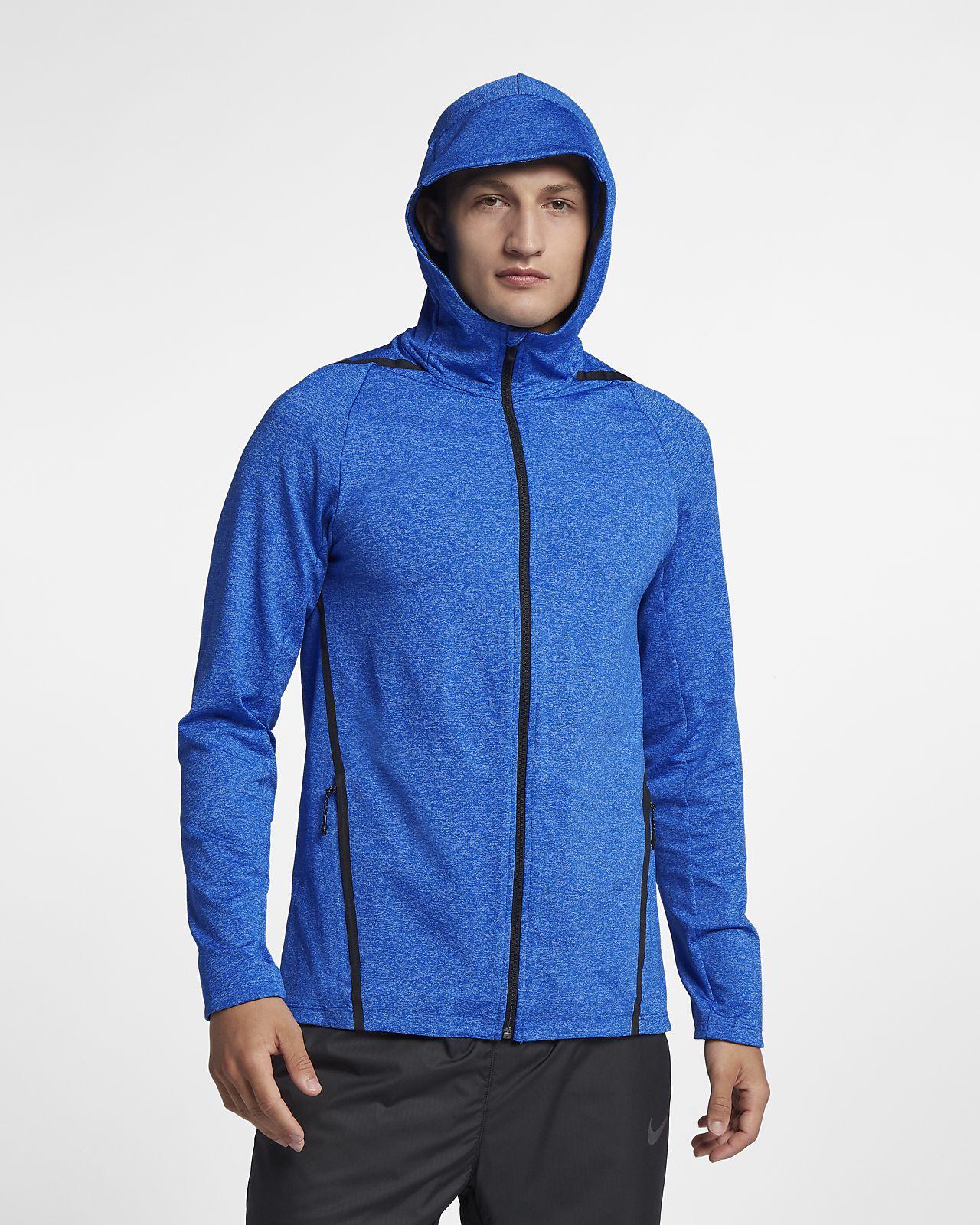 Nike Dri-FIT Langarm-Trainings-Hoodie mit durchgehendem Reißverschluss für Herren