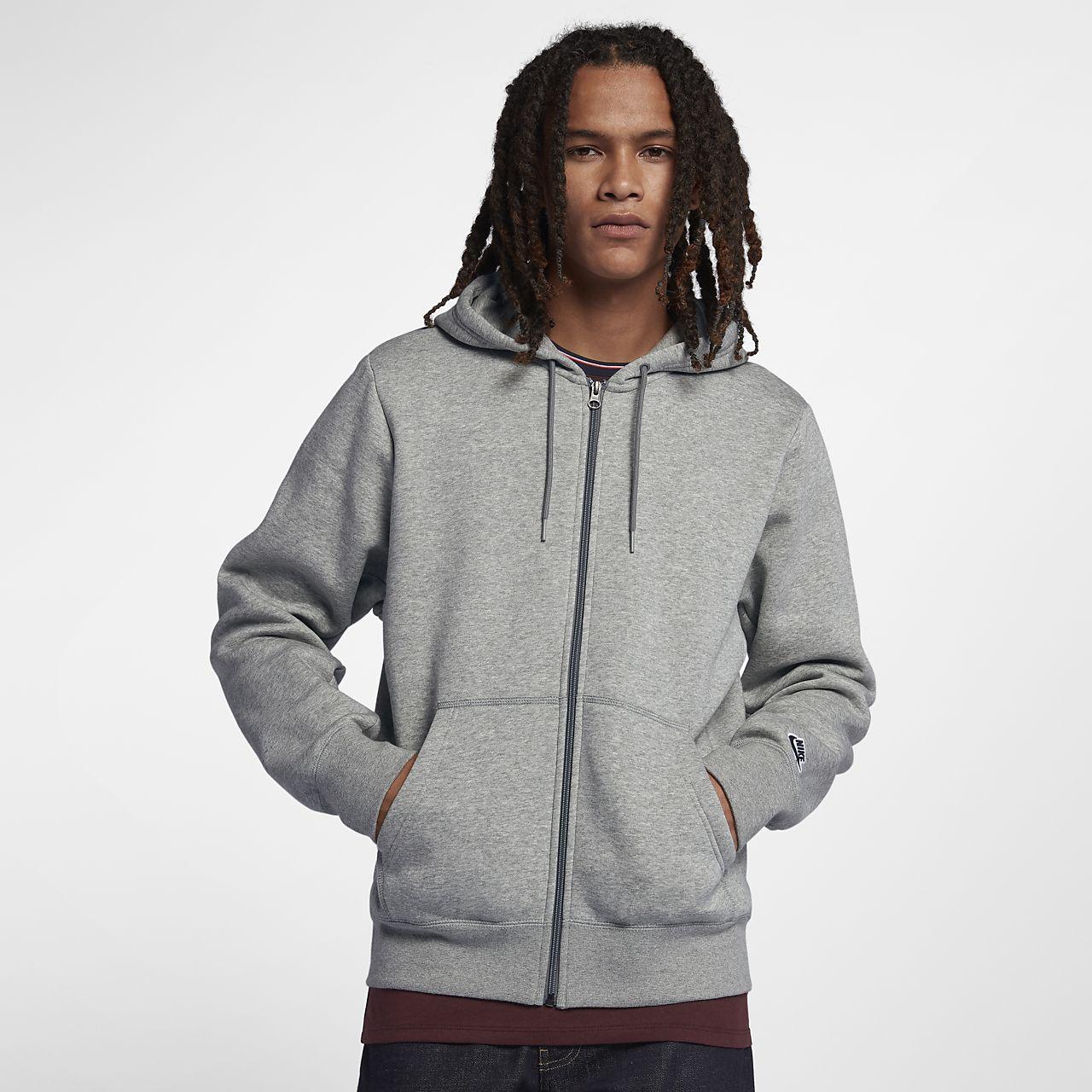 Nike SB Essential Icon Tam Boy Fermuarlı Erkek Kapüşonlu Üst