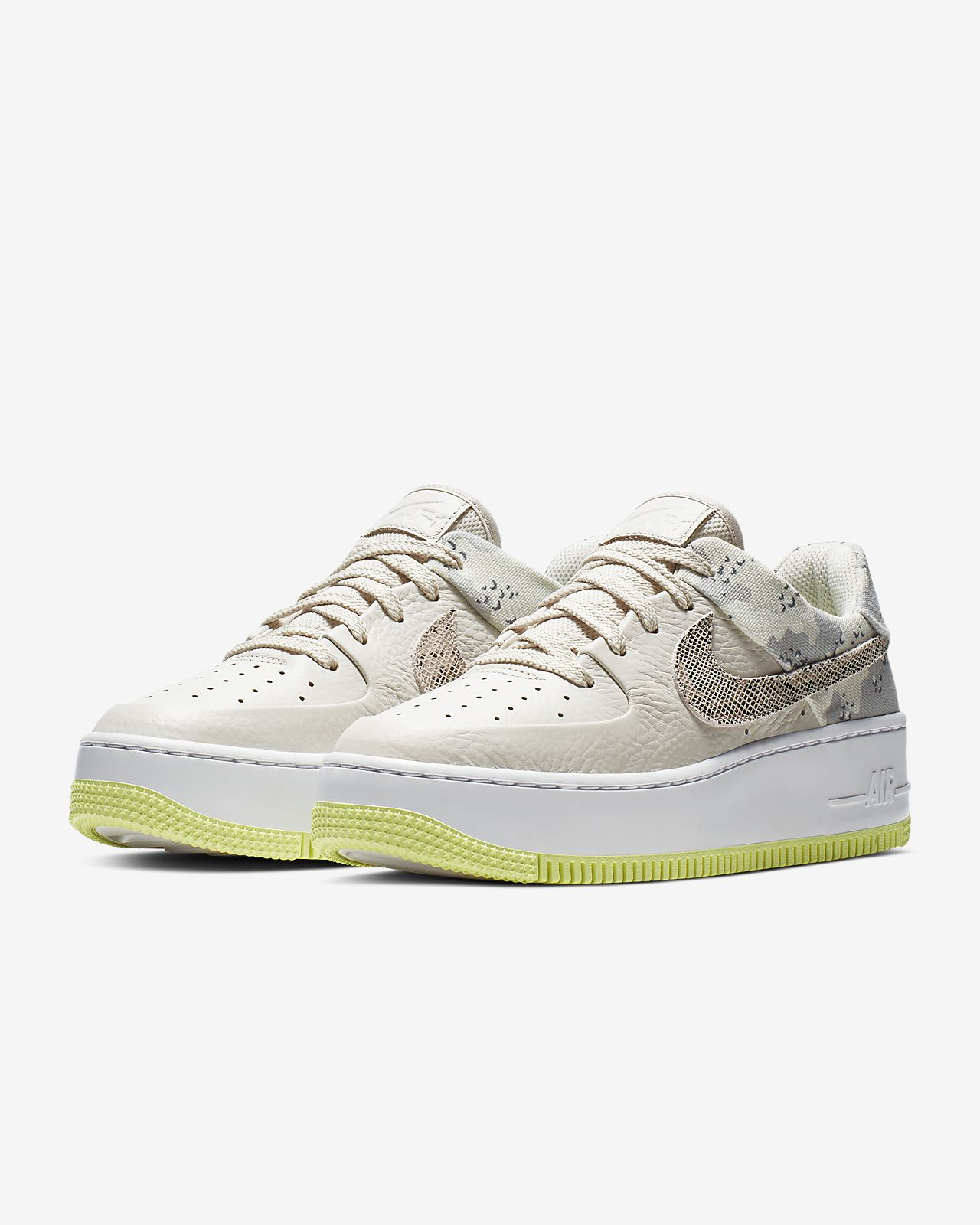 Nike Air Force 1 Sage Low Premium Camo Damesschoen