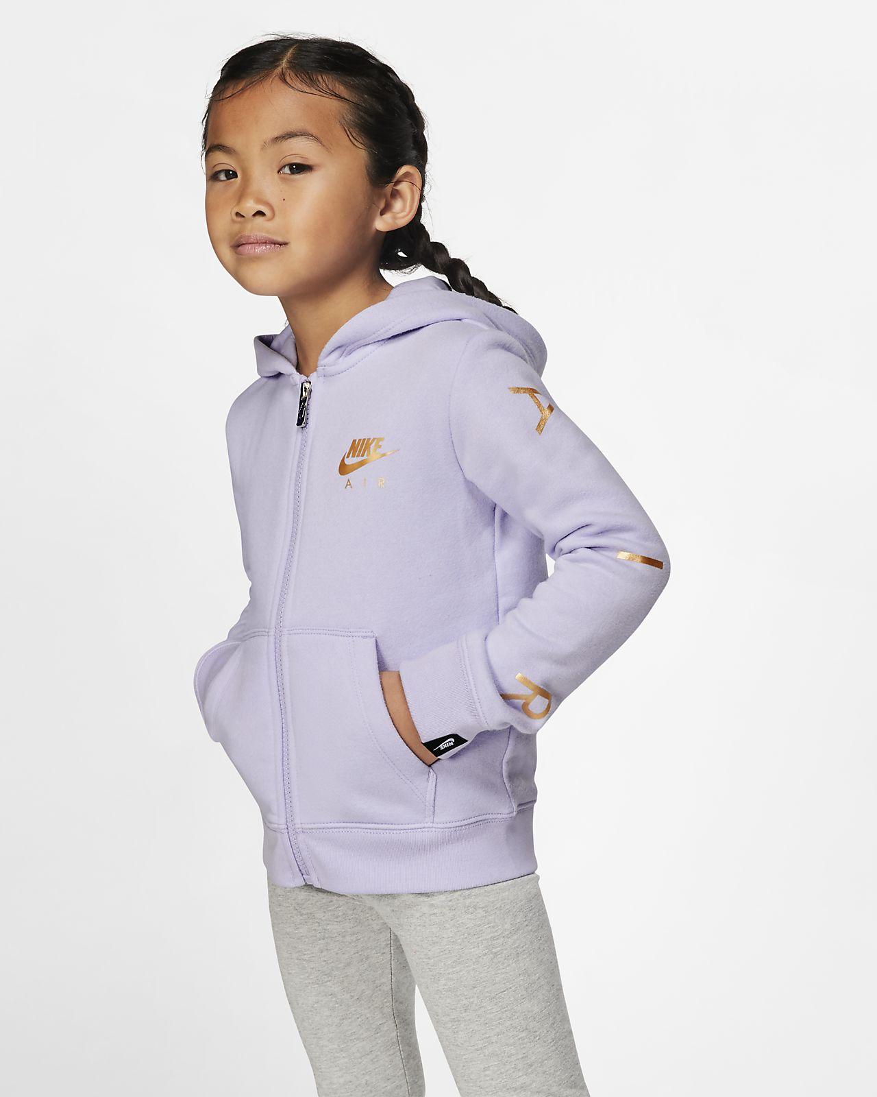 Nike Sportswear hosszú cipzáras, kapucnis polárpulóver gyerekeknek