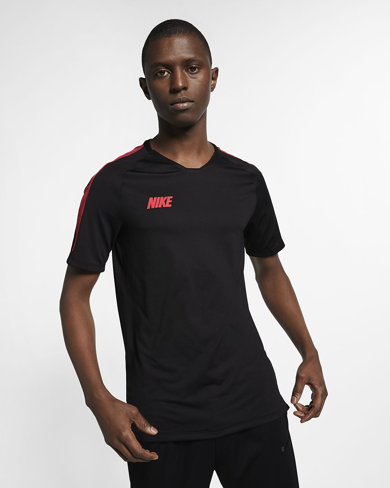 Camisola de futebol de manga curta Nike Breathe Squad para homem