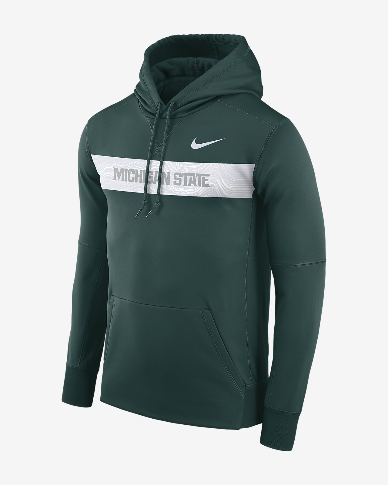 Nike College Dri Fit Therma Michigan State Men S Pullover Hoodie
