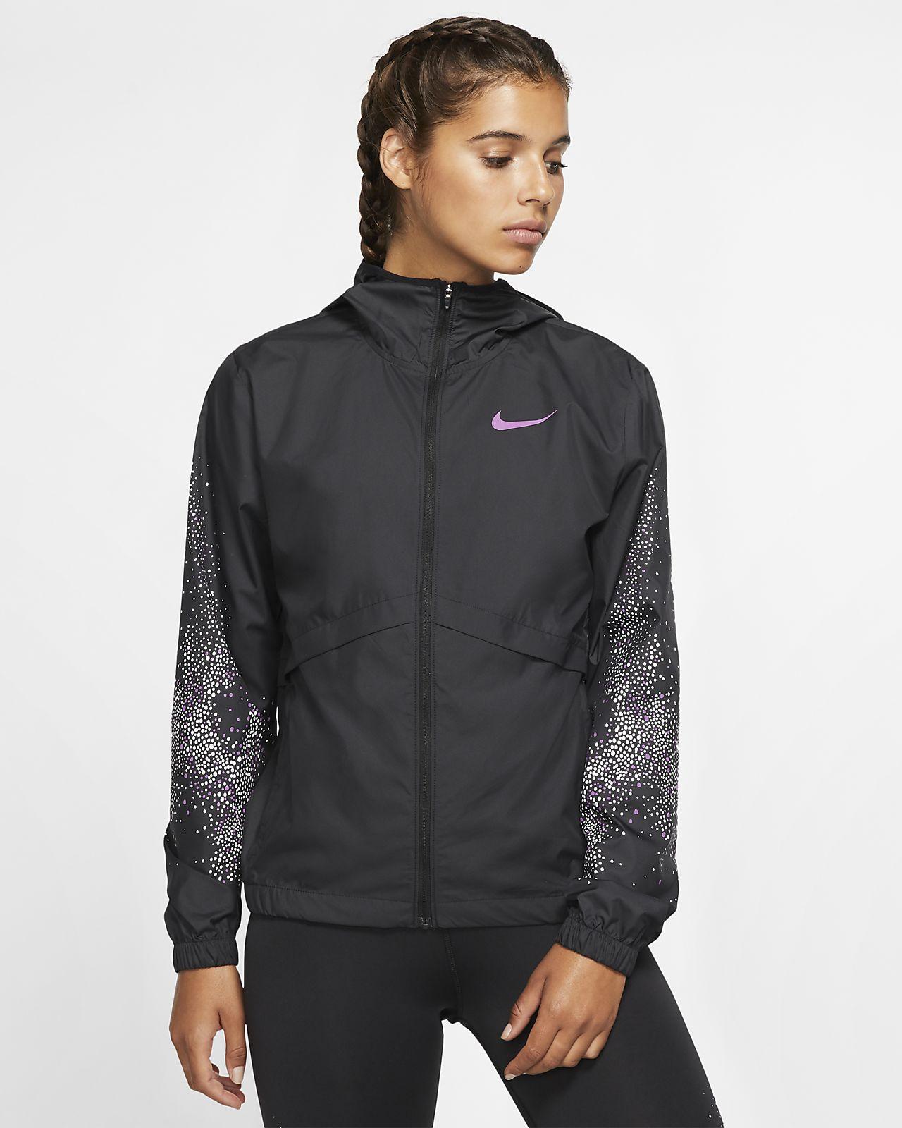 Chamarra de running de cierre completo para mujer Nike Essential