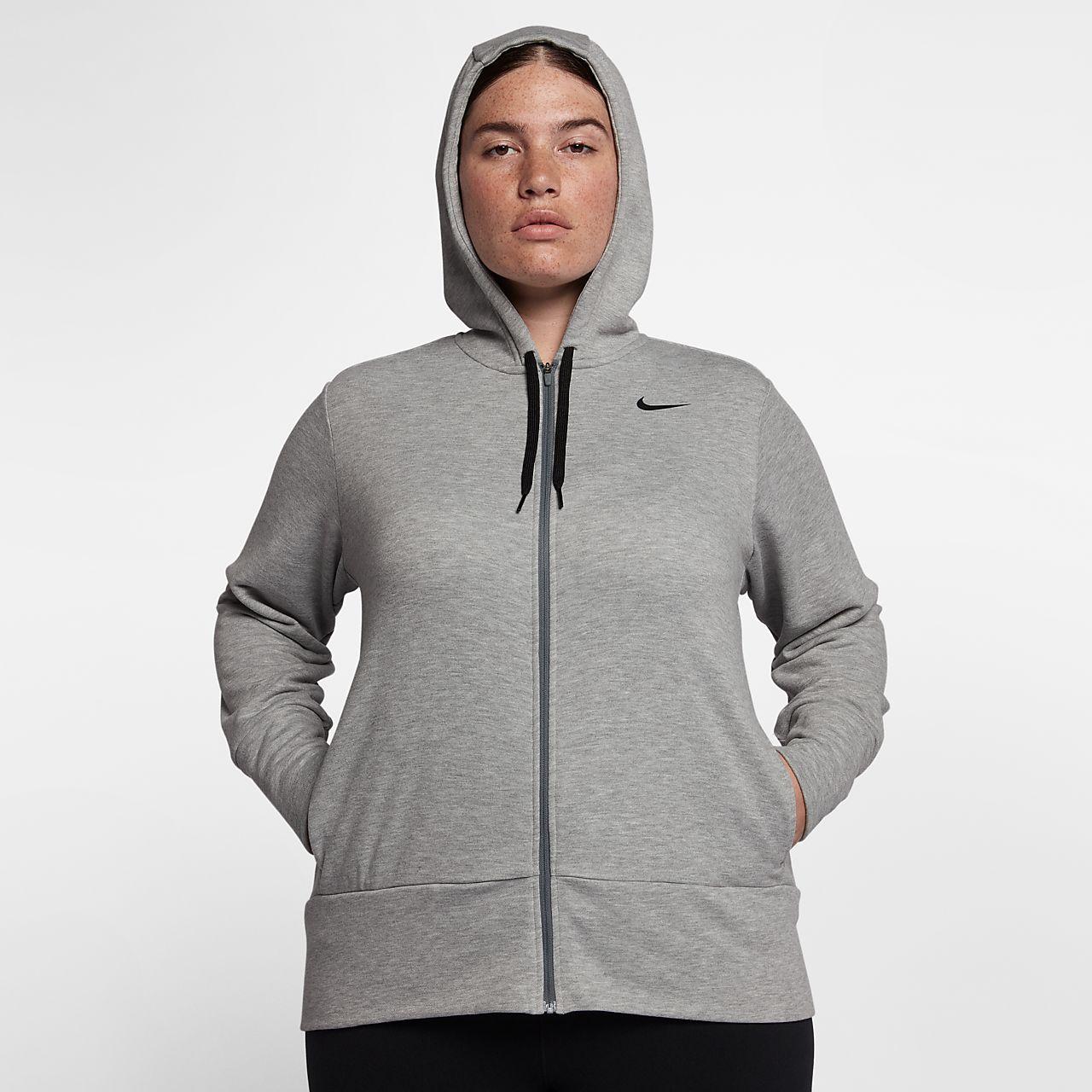 ... Nike Dry (Plus Size) Women's Full-Zip Training Hoodie