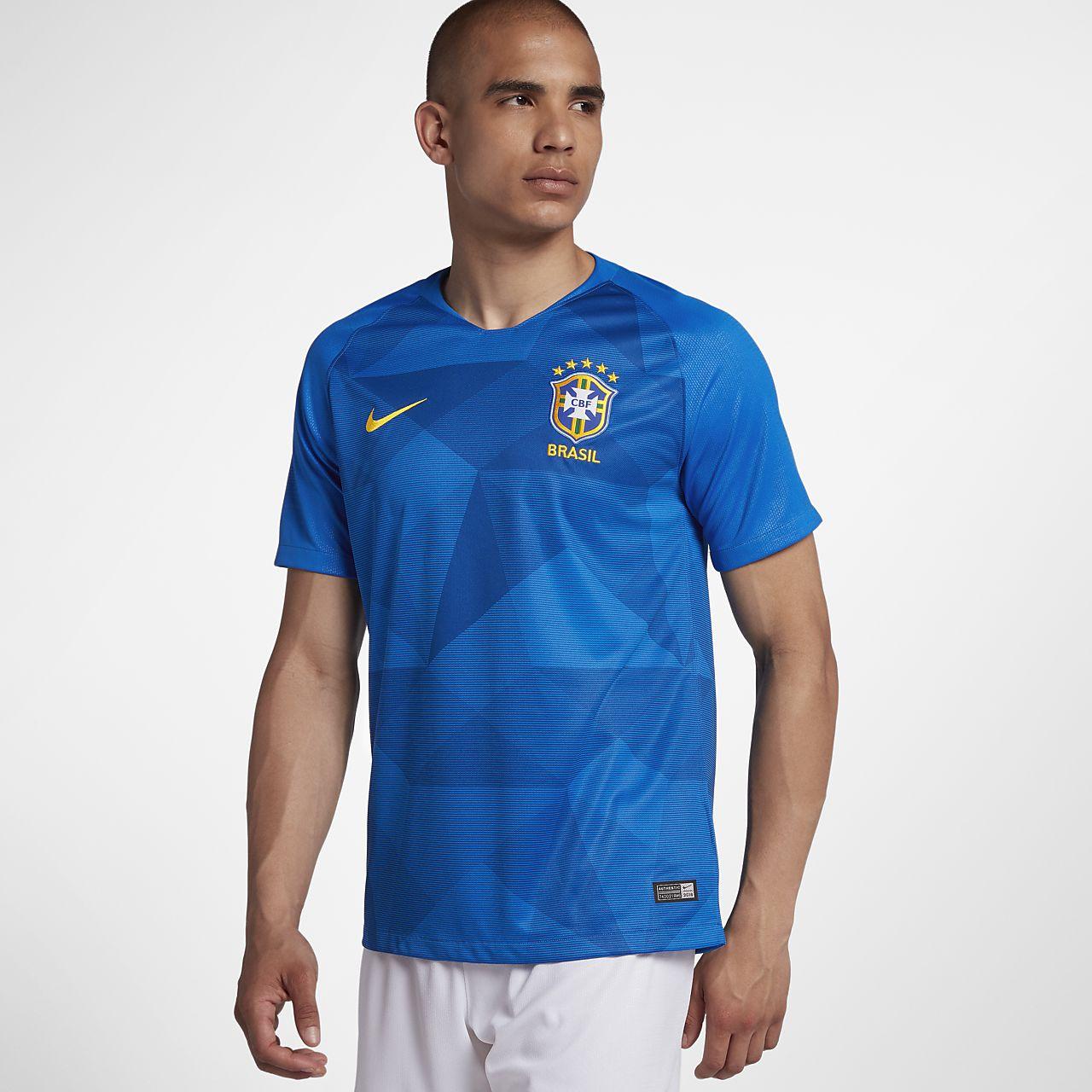 Camiseta de fútbol para hombre 2018 Brasil CBF Stadium Away