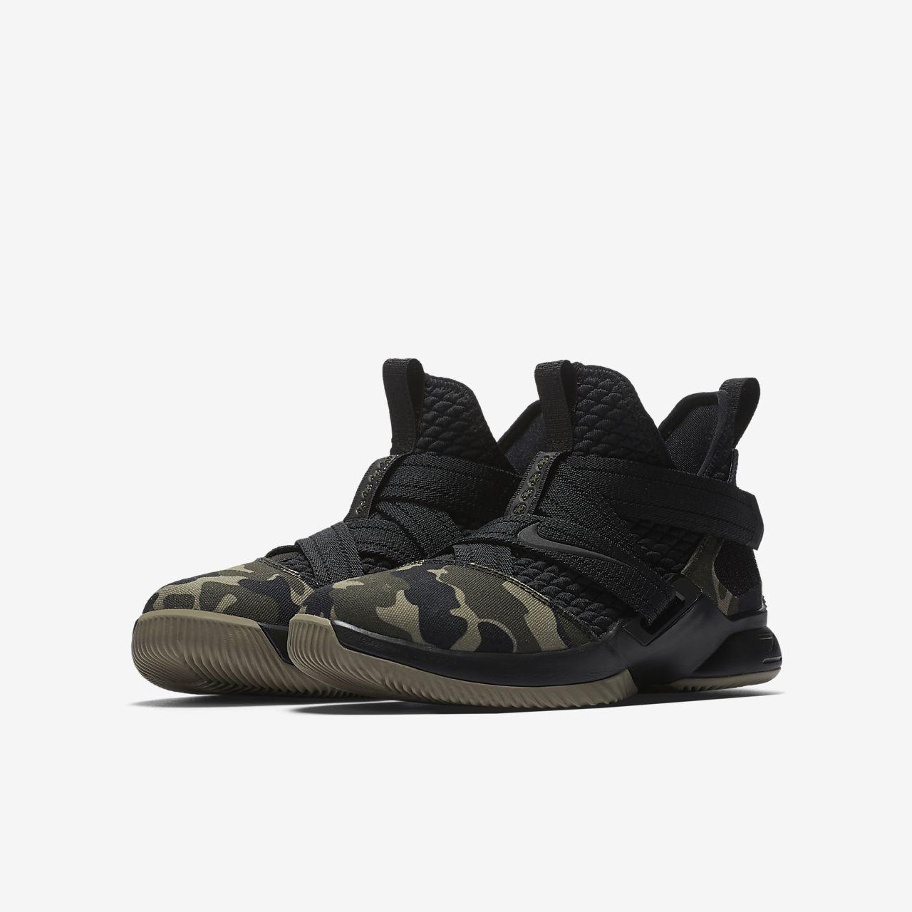 Nike Performance LEBRON SOLDIER XII SFG - Basketball shoes - black/hazel rush DtNMmJEN