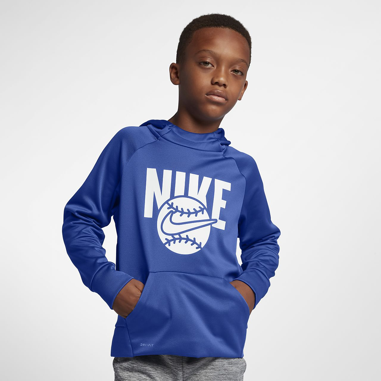 133393bb2499 Nike Therma Big Kids  (Boys ) Training Pullover Hoodie. Nike.com