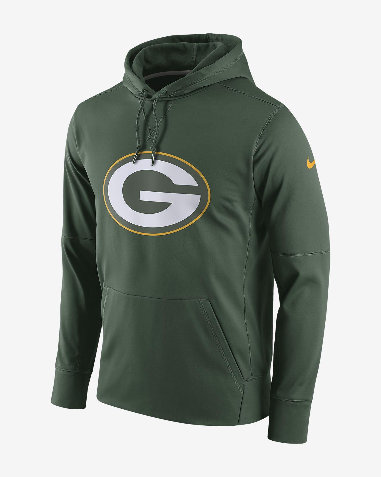 Ανδρική μπλούζα με κουκούλα Nike Circuit Logo Essential (NFL Packers)