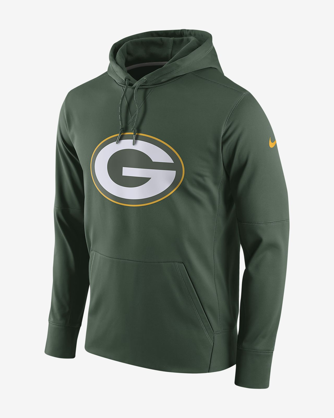 free shipping a8160 d558b Nike Circuit Logo Essential (NFL Packers) Men's Pullover Hoodie