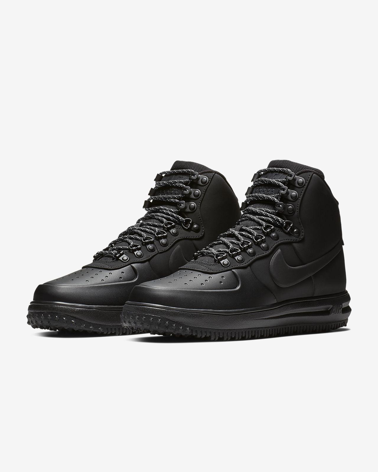 Uomo Nike Air Force 1 Mid Duck Boot Nero | Sneakers retro