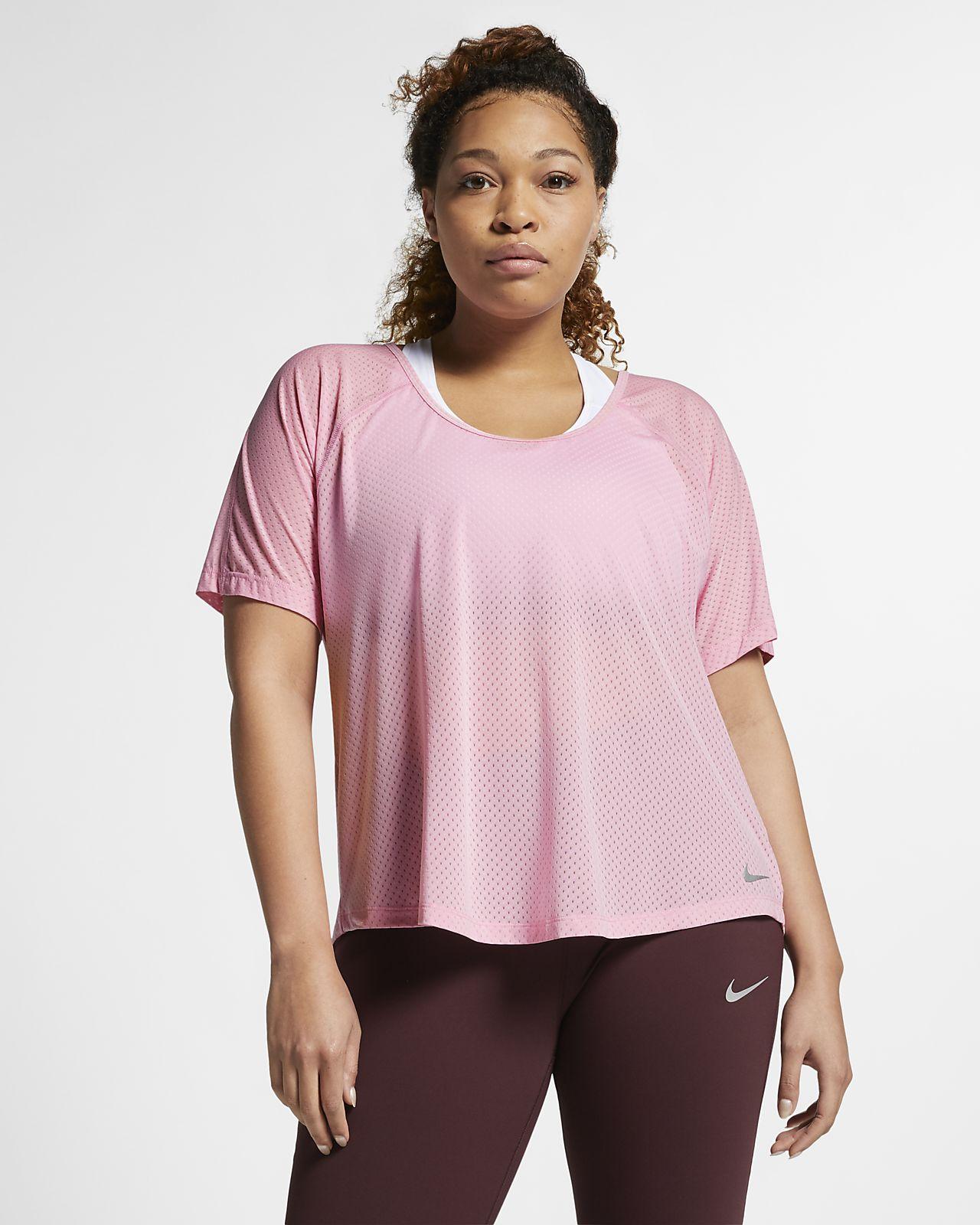 Top da running Nike Breathe Miler (Plus Size) - Donna