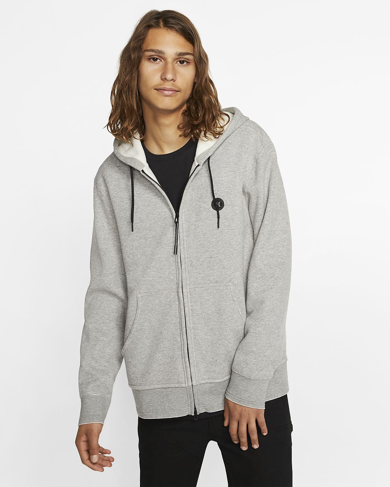 Felpa in fleece con cappuccio e zip a tutta lunghezza Hurley Therma Endure - Uomo