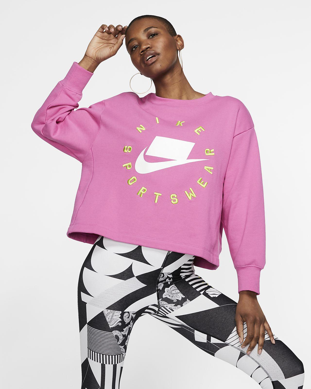 Dámská mikina Nike Sportswear NSW z francouzského froté s kulatým výstřihem