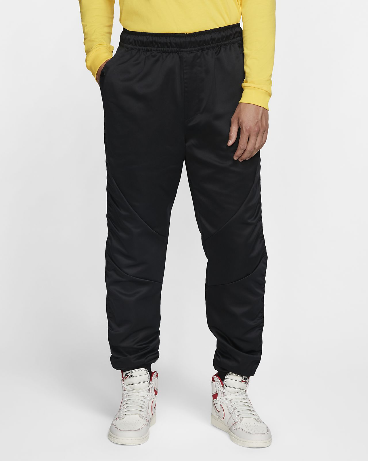 Byxor Jordan Black Cat Flight Suit för män