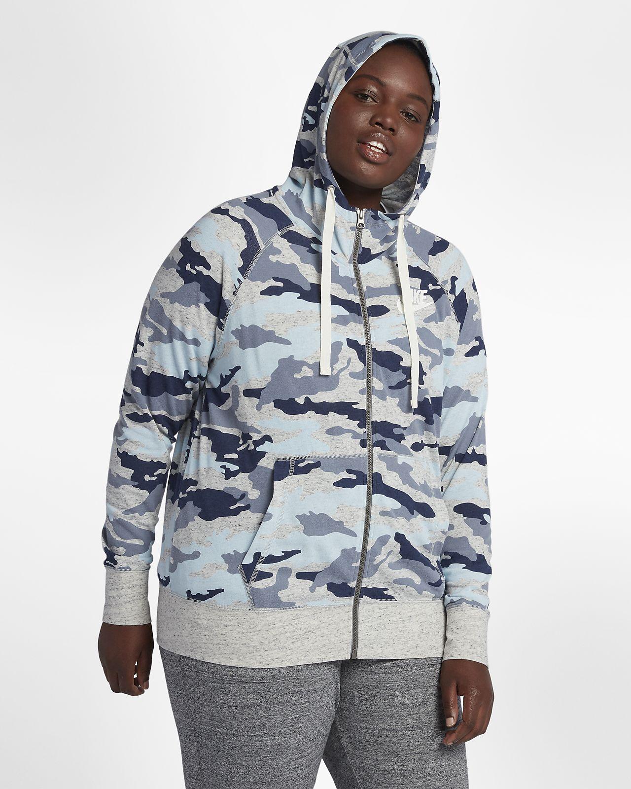 5defa85a397d3 Sweat à capuche camouflage Nike Sportswear Gym Vintage pour Femme (grande  taille)