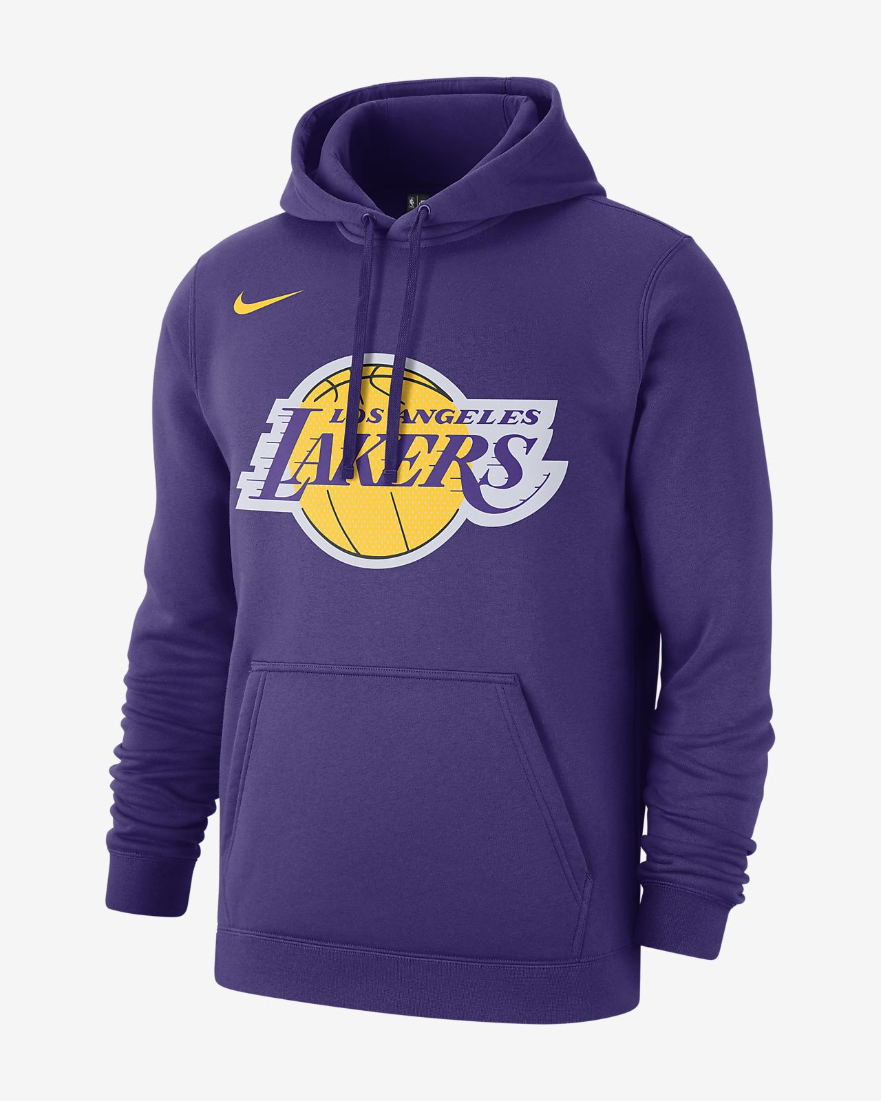 Los Angeles Lakers Nike NBA-s kapucnis férfipulóver