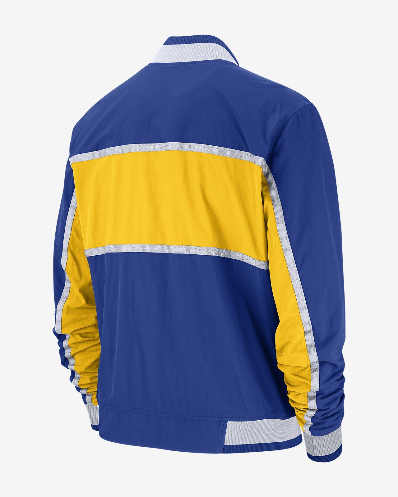 90ef80d3c7ff Golden State Warriors Nike Courtside Men s NBA Jacket. Nike.com