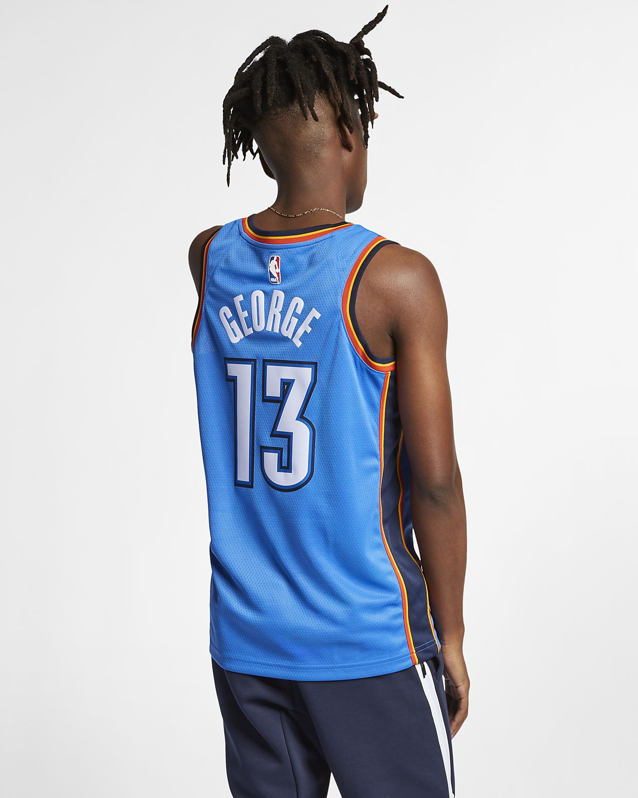 separation shoes c4c69 39640 Paul George Icon Edition Swingman (Oklahoma City Thunder) Men's Nike NBA  Connected Jersey