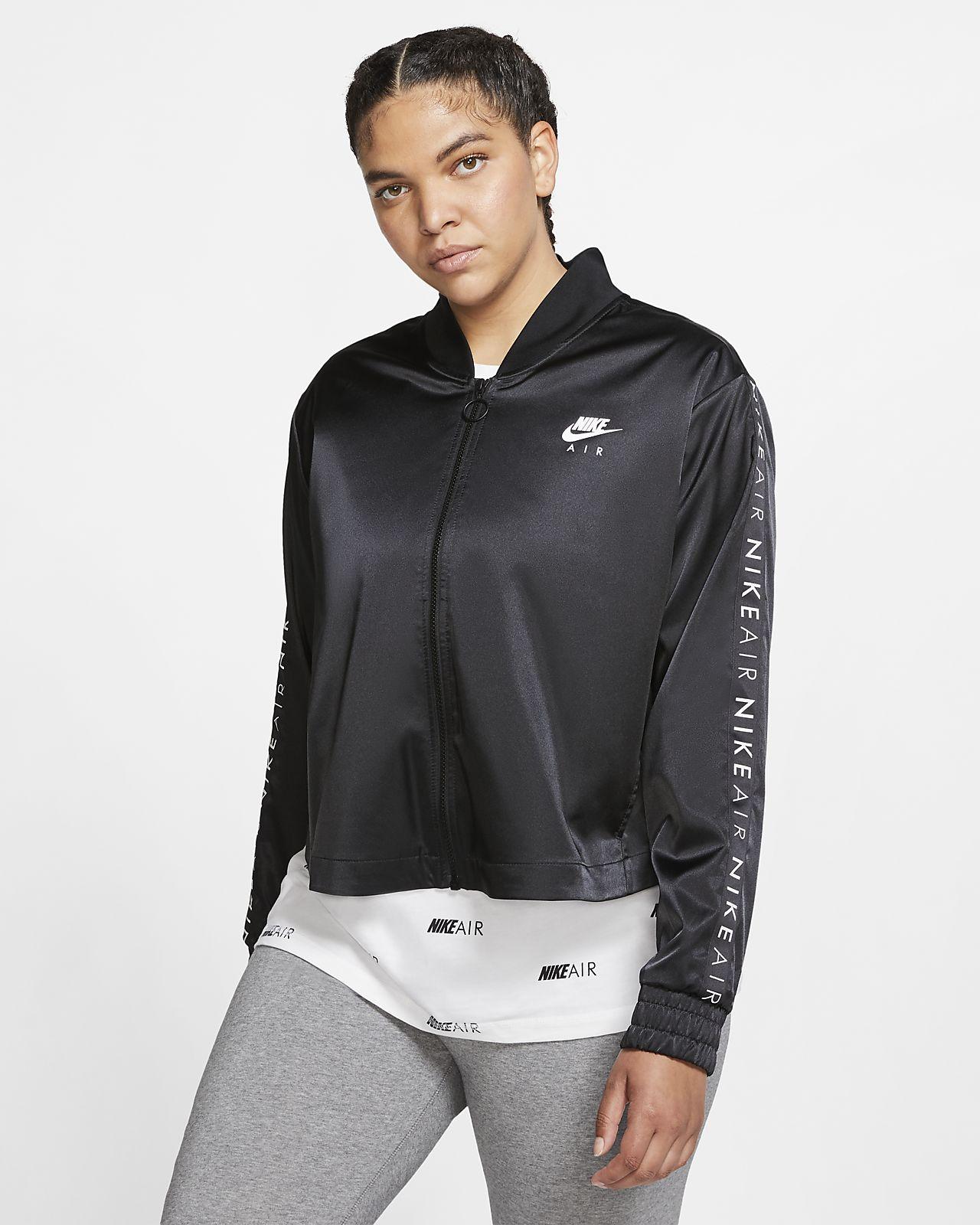Nike Air Chaqueta deportiva de satén (Talla grande) - Mujer